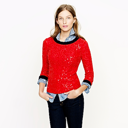 Scattered sequin sweater