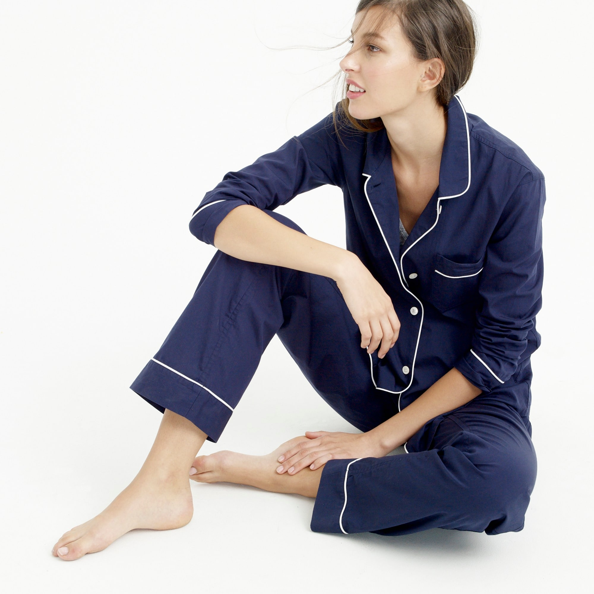 women's petite vintage pajama set - women's lounge