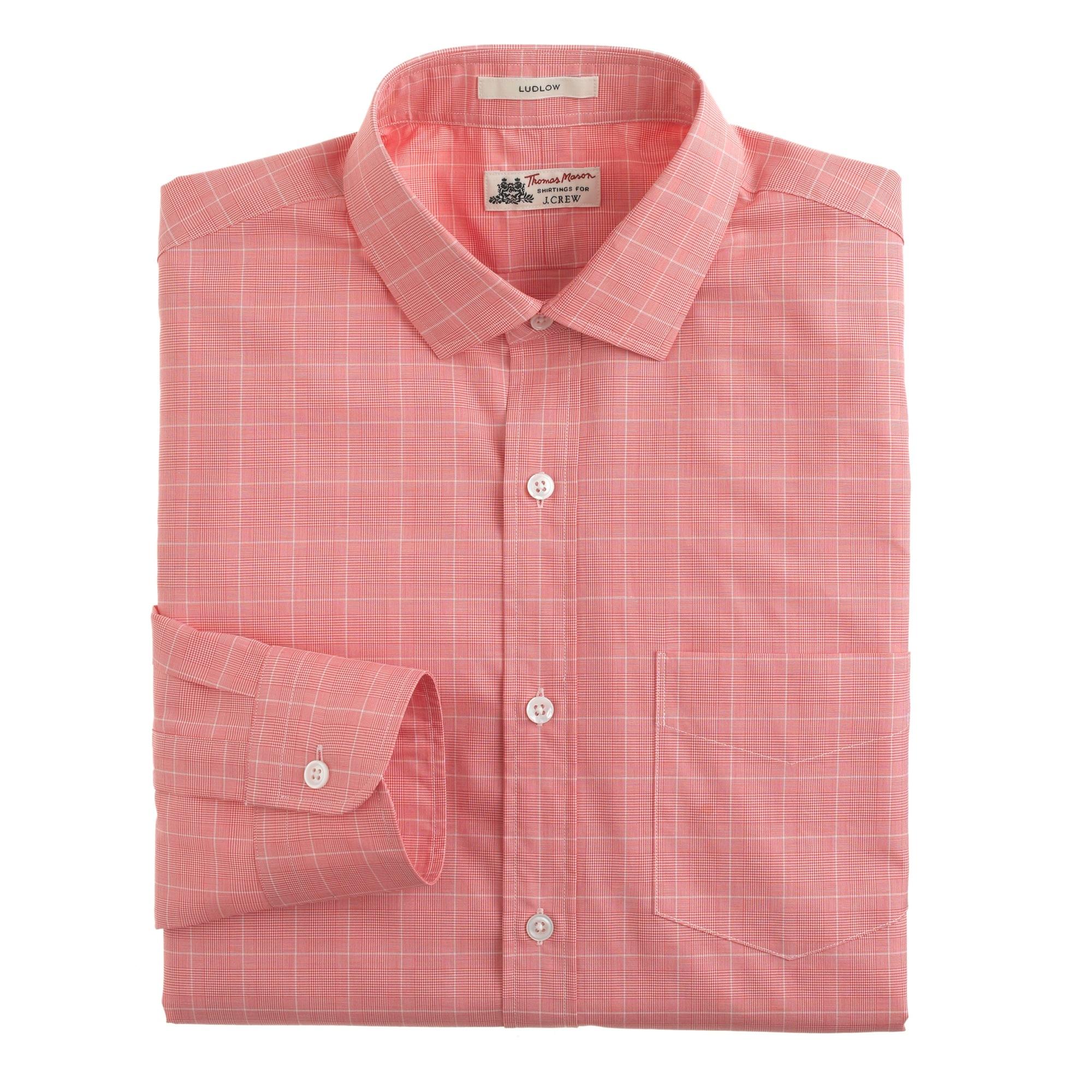 thomas mason® for j.crew ludlow shirt in calypso orange : men thomas mason for j.crew