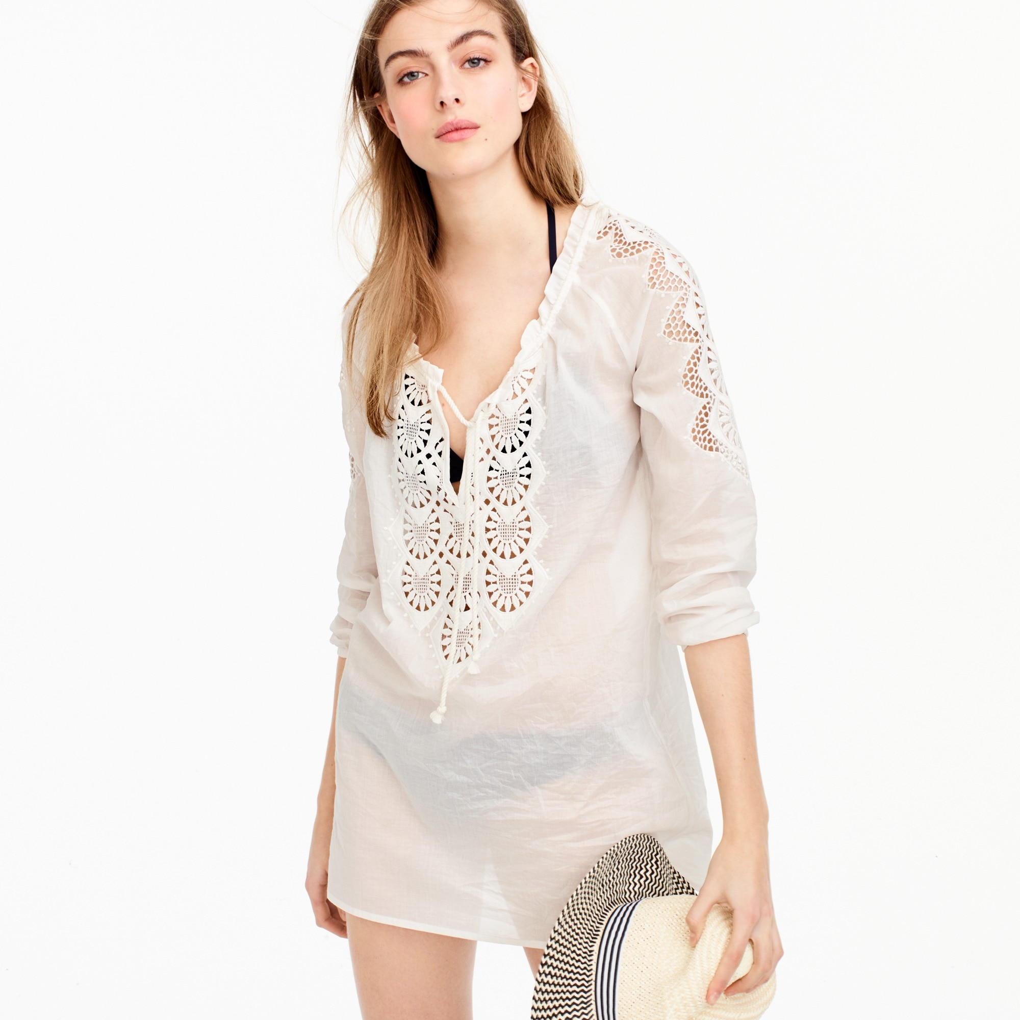 embroidered tunic : women beach cover-ups