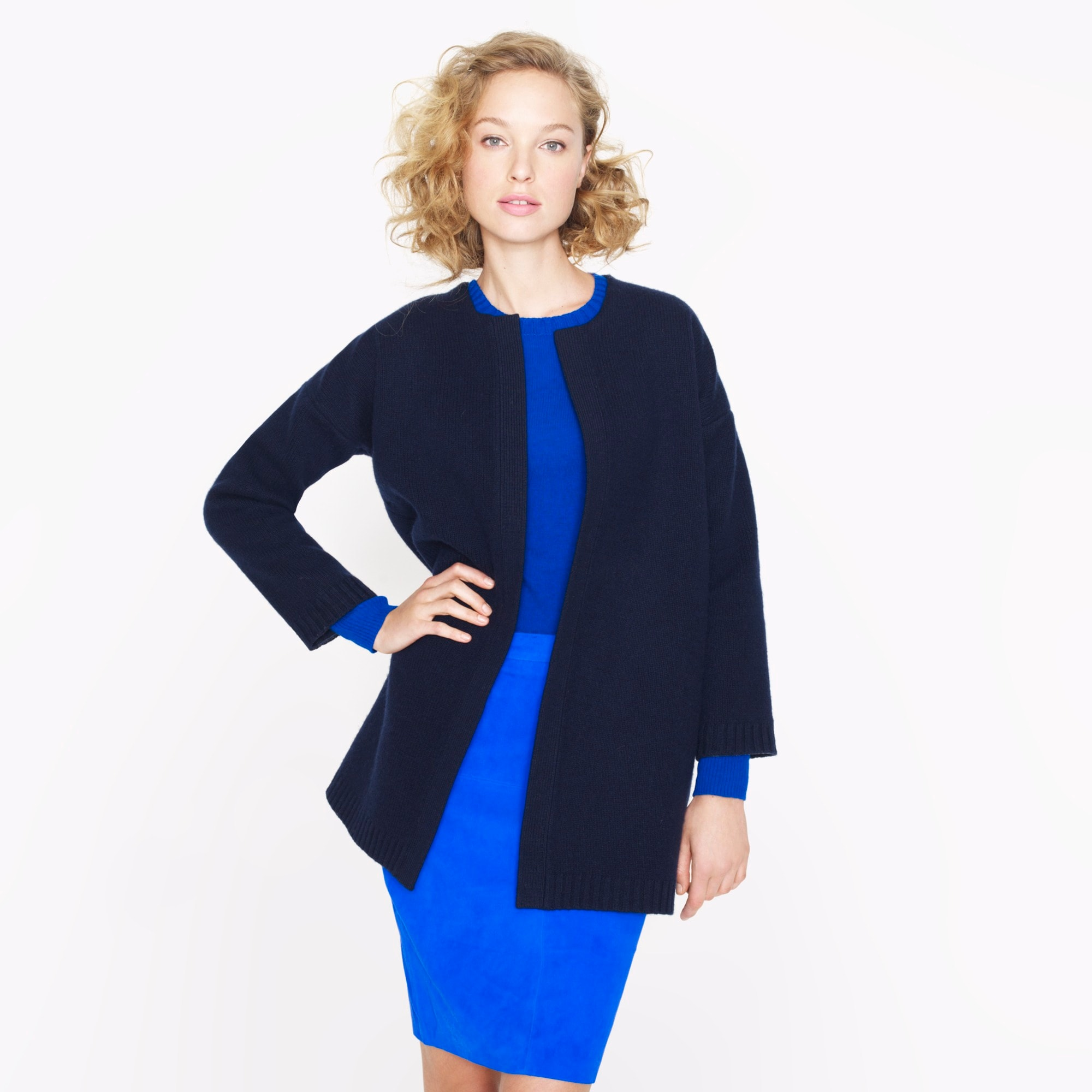 Collection bonded sweater-jacket