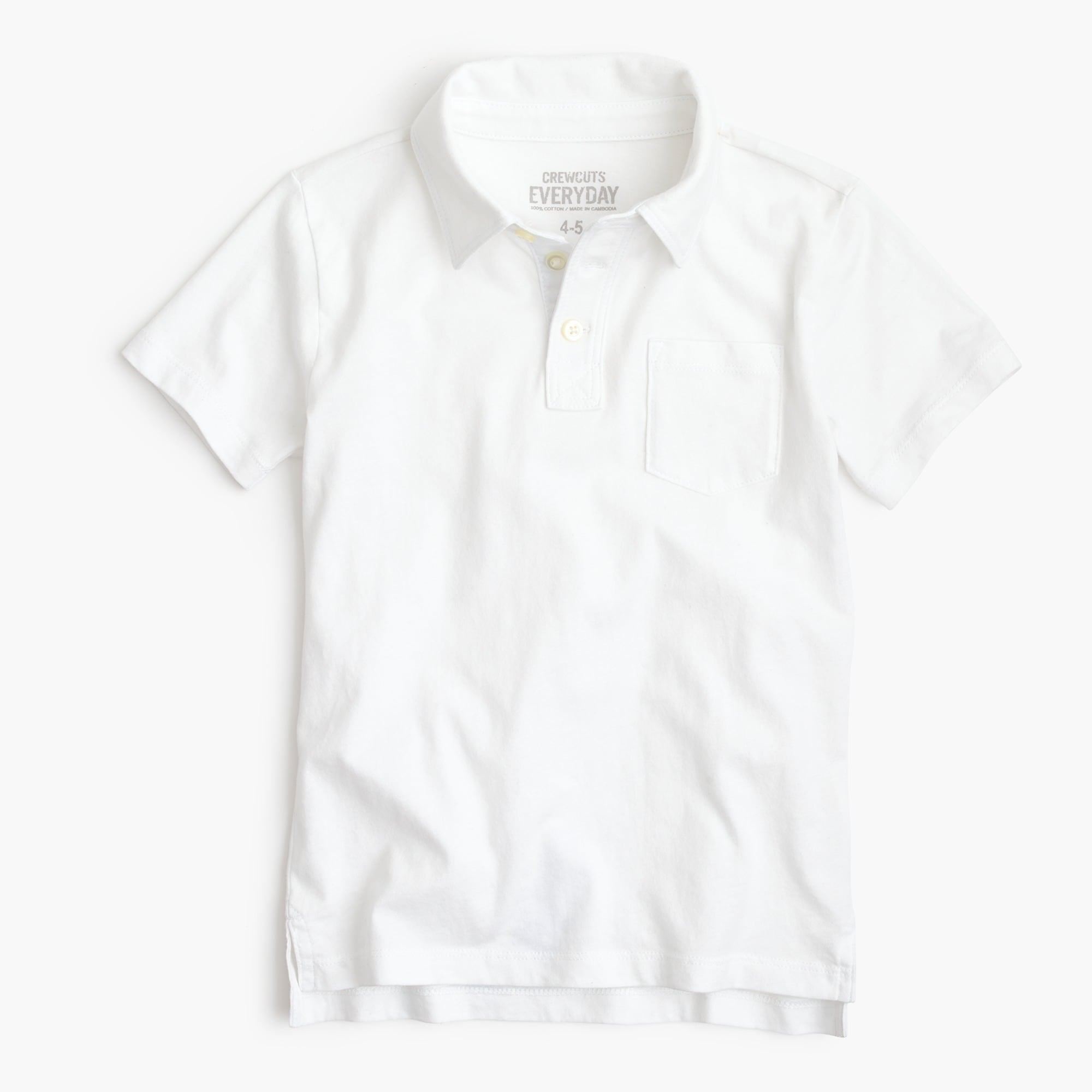 Boys' jersey polo shirt boy monogram shop c