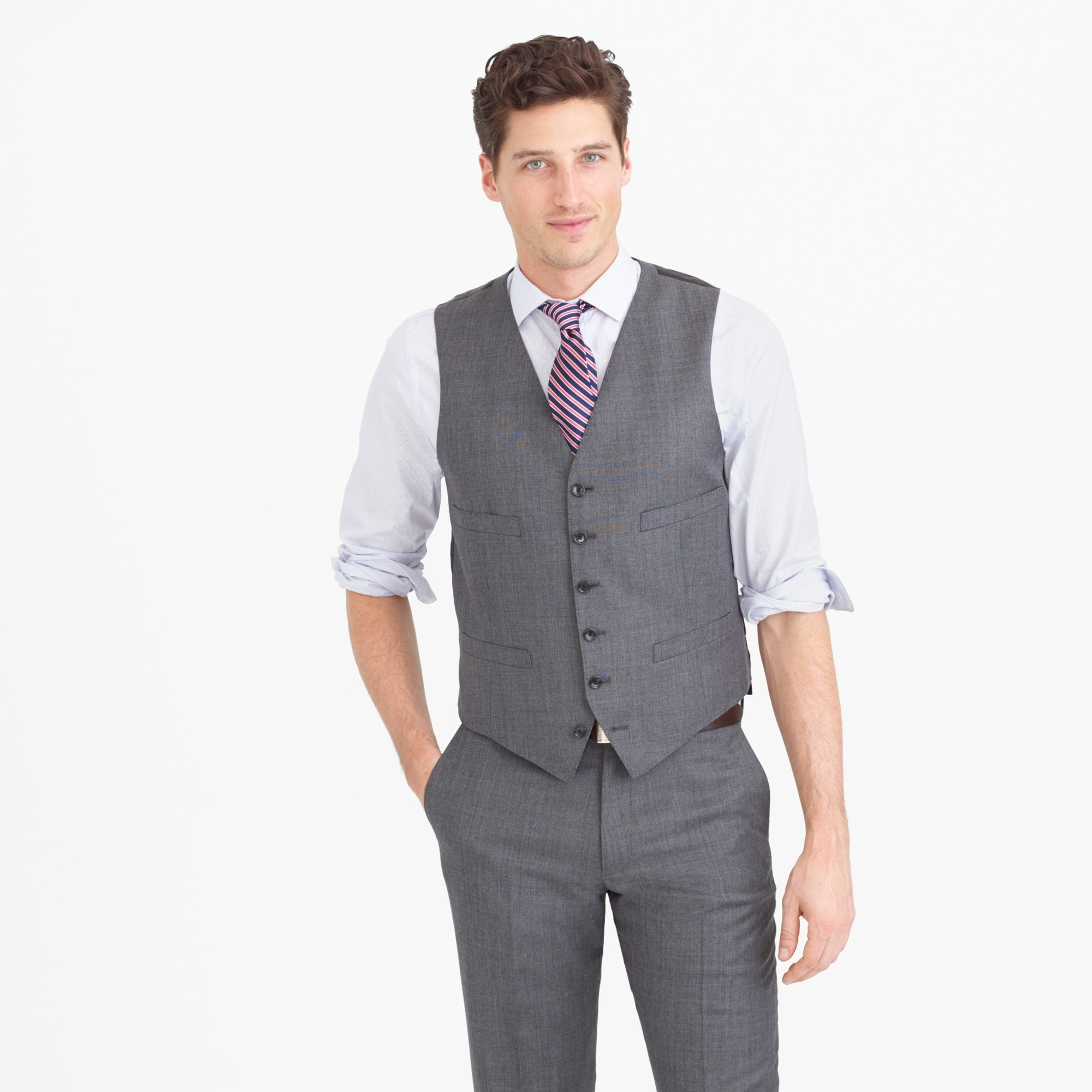 Ludlow suit vest in Italian worsted wool men blazers & vests c