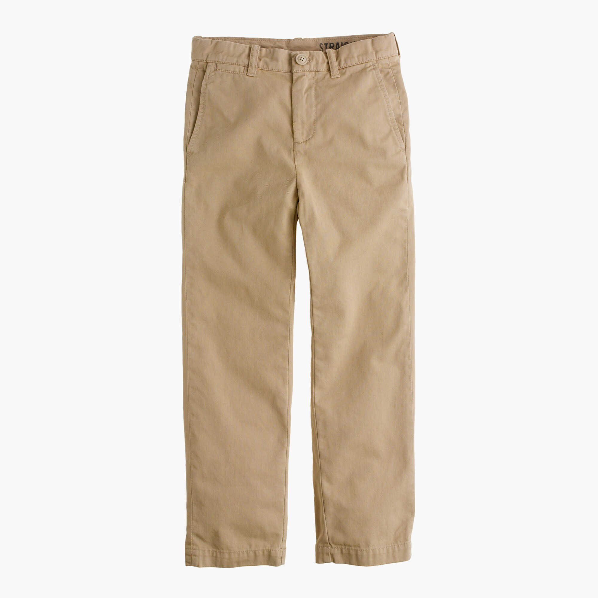 boys' garment-dyed chino in straight fit : boys' chino pants