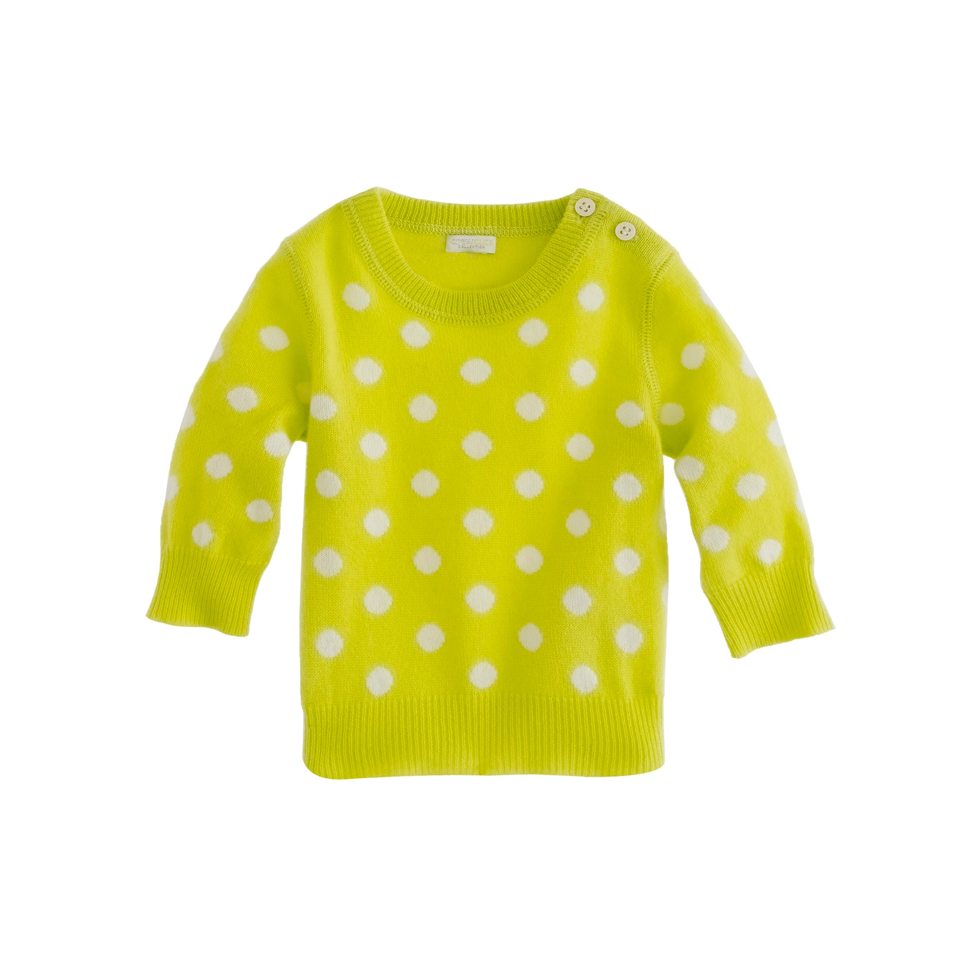 Baby cashmere sweater in polka dot