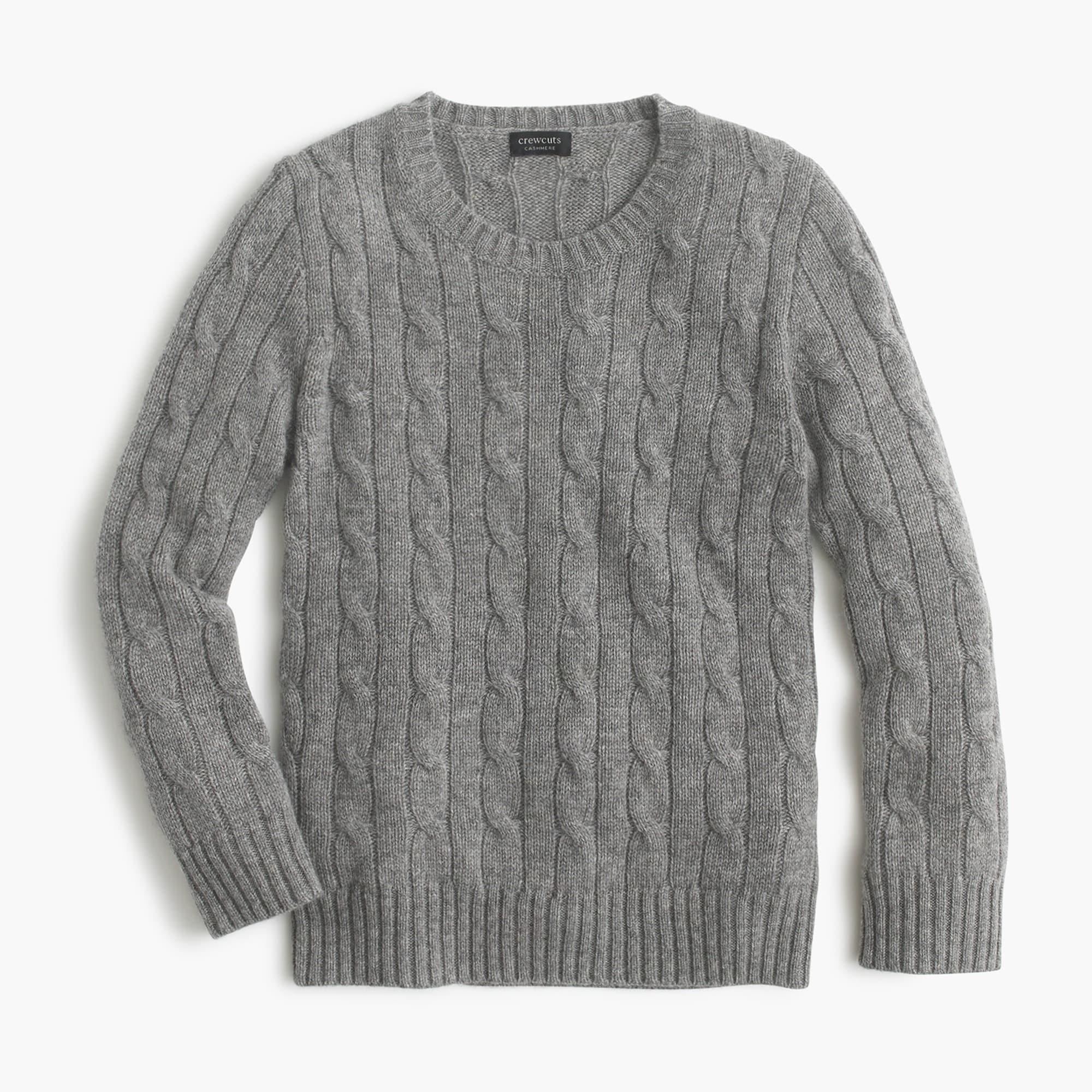 Kids' cashmere cable crewneck sweater boy sweaters c