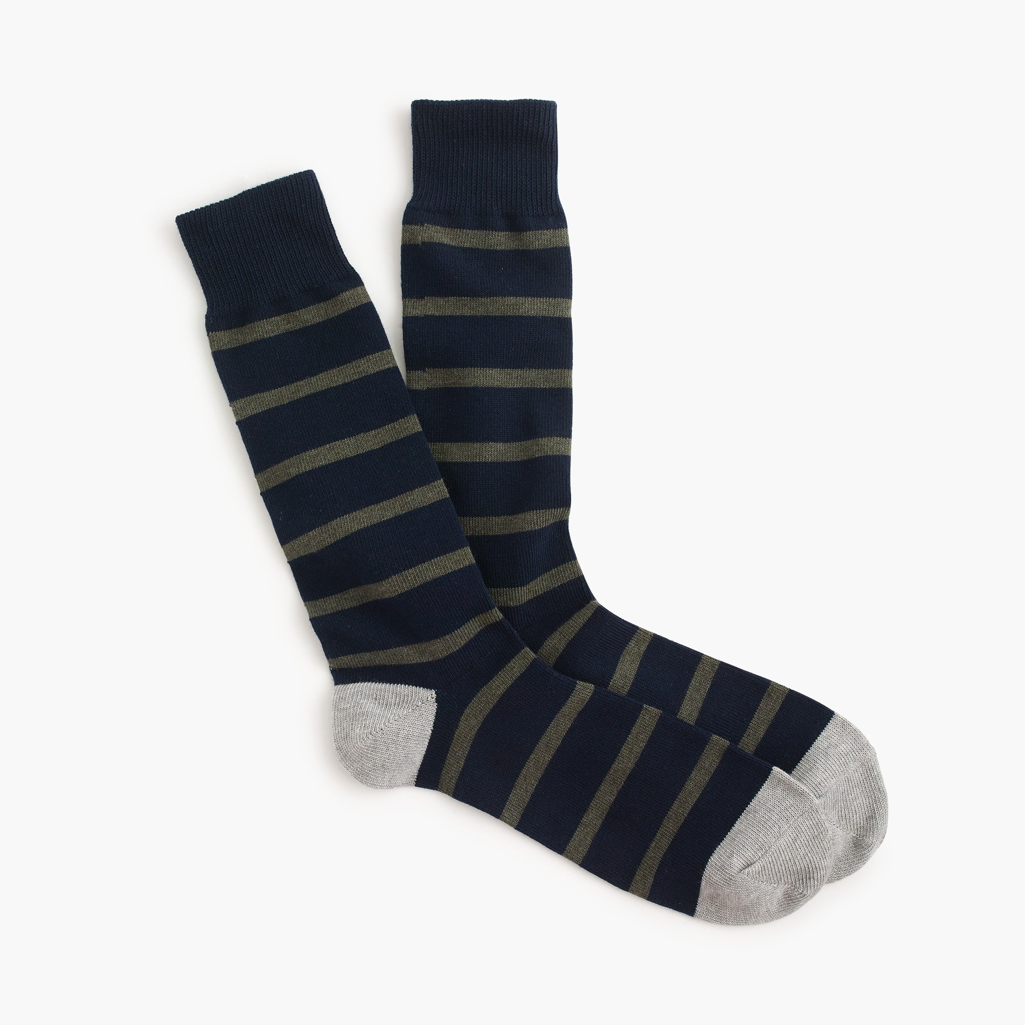 naval-striped socks : men's socks