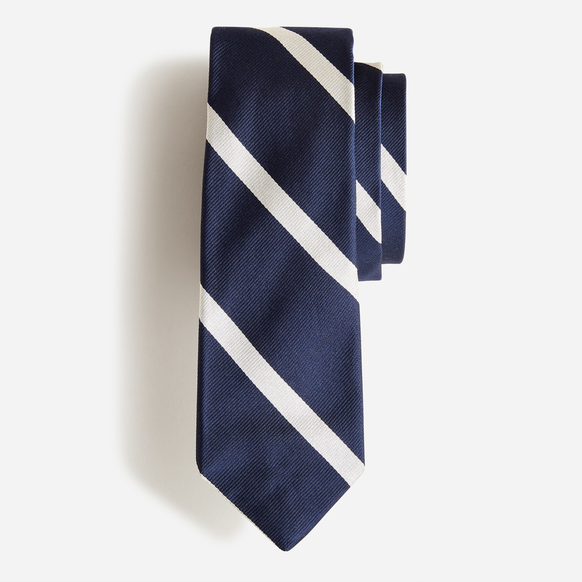 mens English silk tie in diagonal stripe