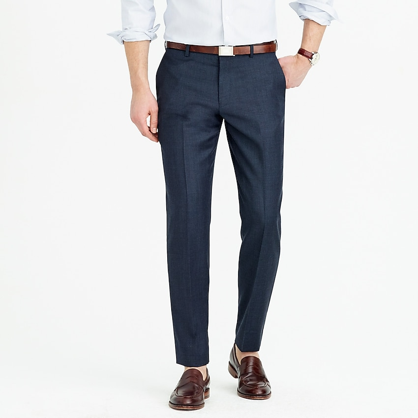j.crew: ludlow slim-fit suit pant in italian worsted wool, right side, view zoomed
