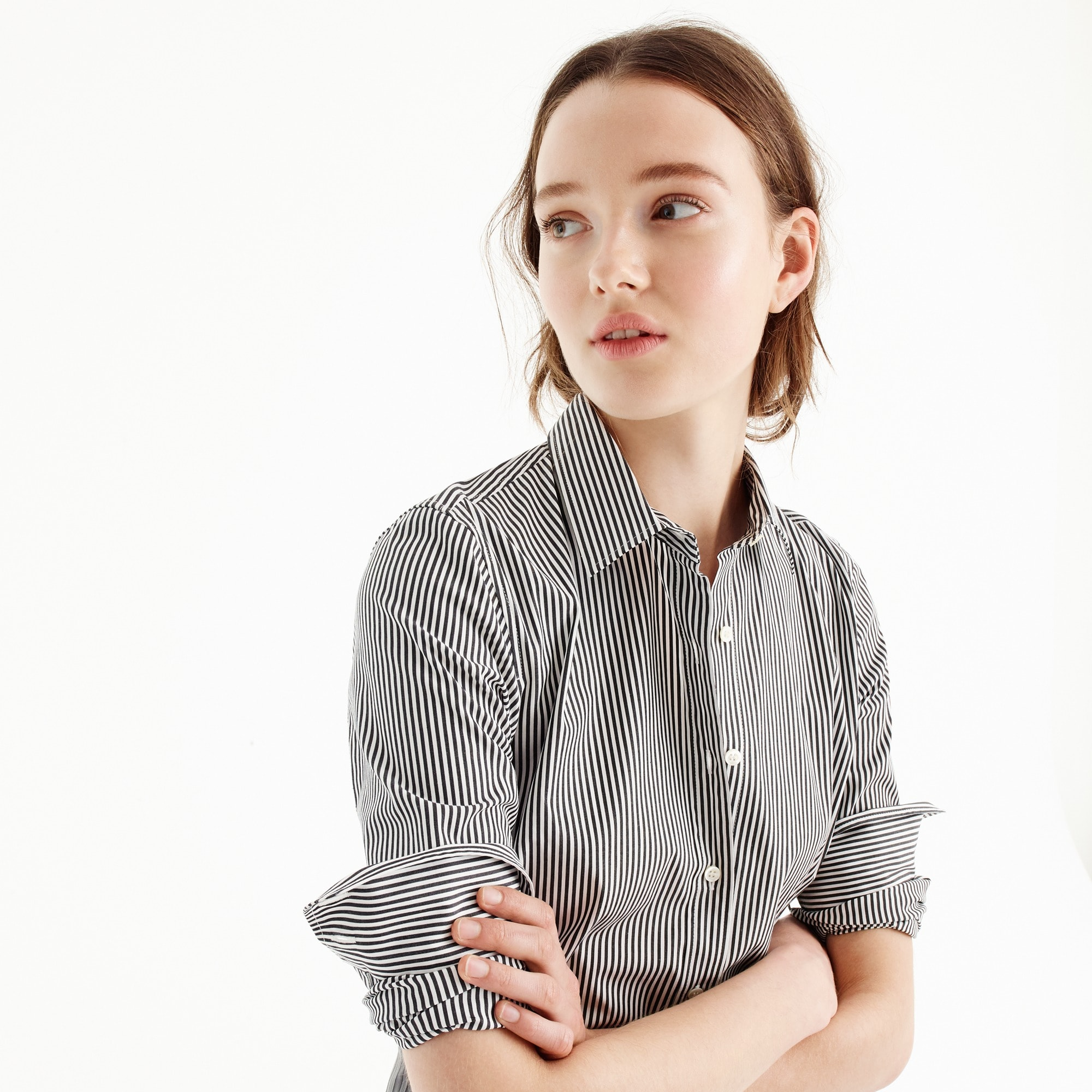 stretch perfect shirt in classic stripe : women's shirts