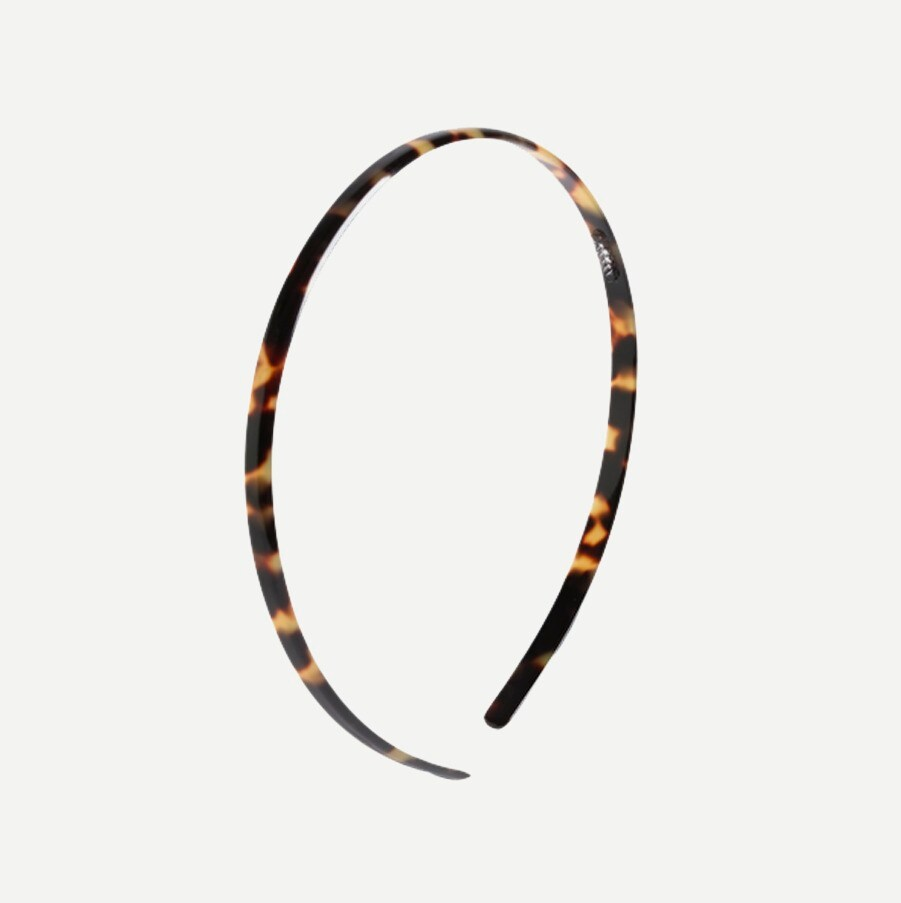 womens Skinny headband in Italian tortoise