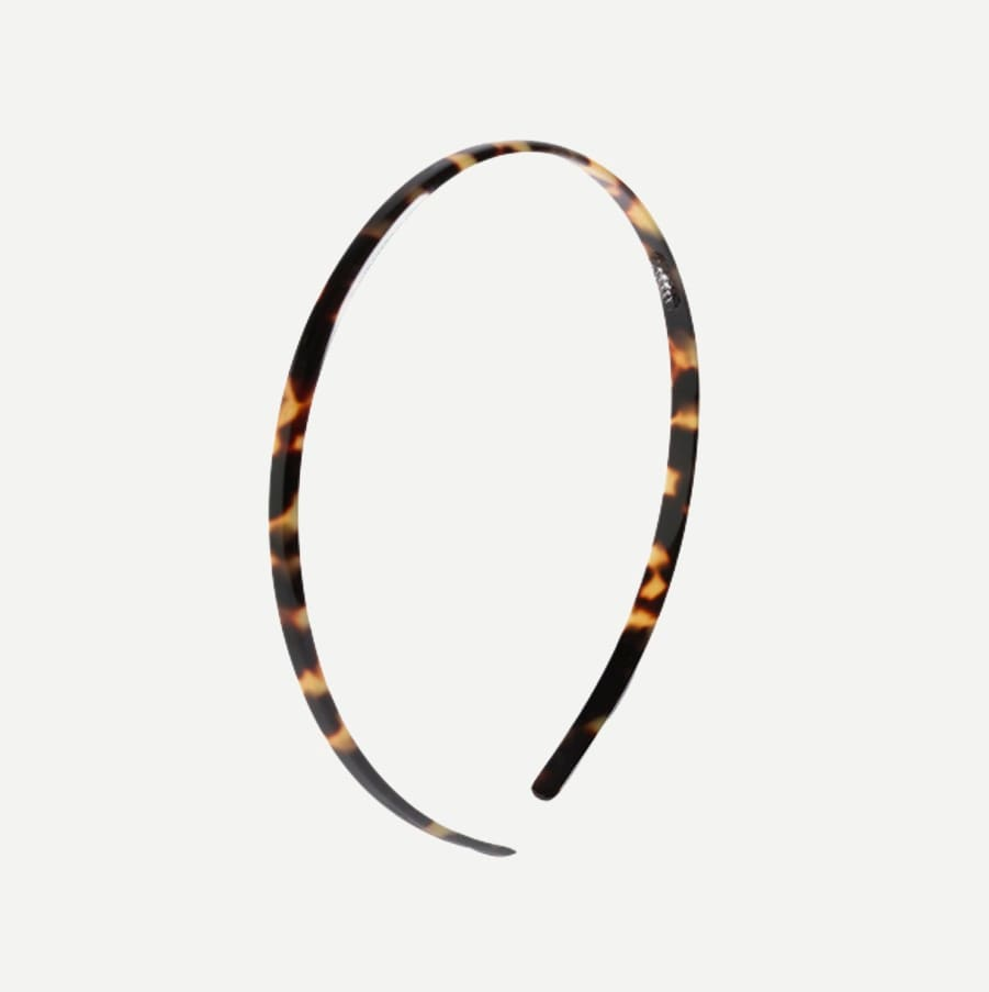 women's skinny headband in italian tortoise - women's items