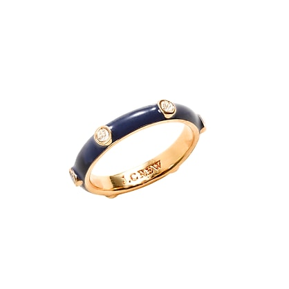 Stackable enamel ring
