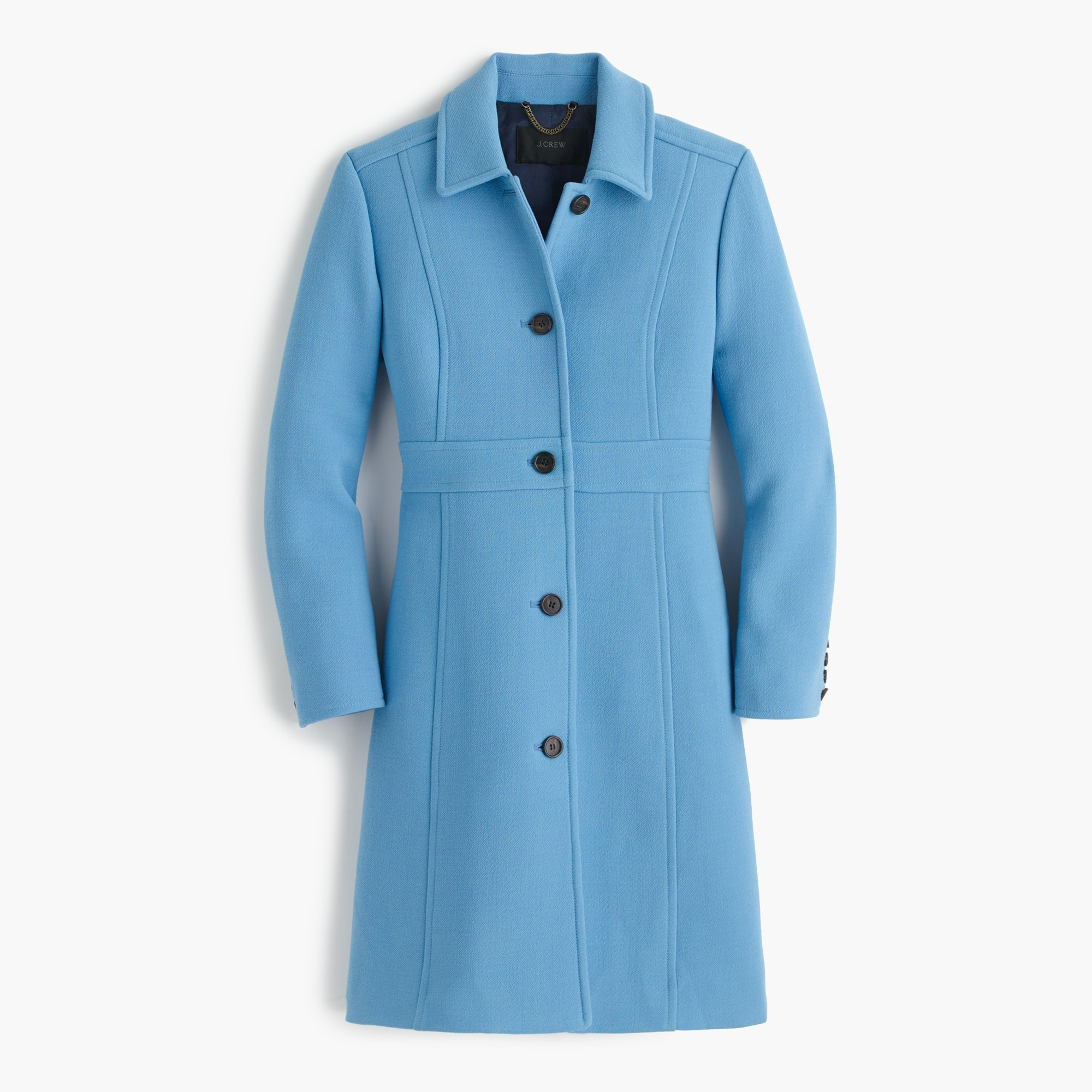 Tall Italian double-cloth wool lady day coat with Thinsulate®