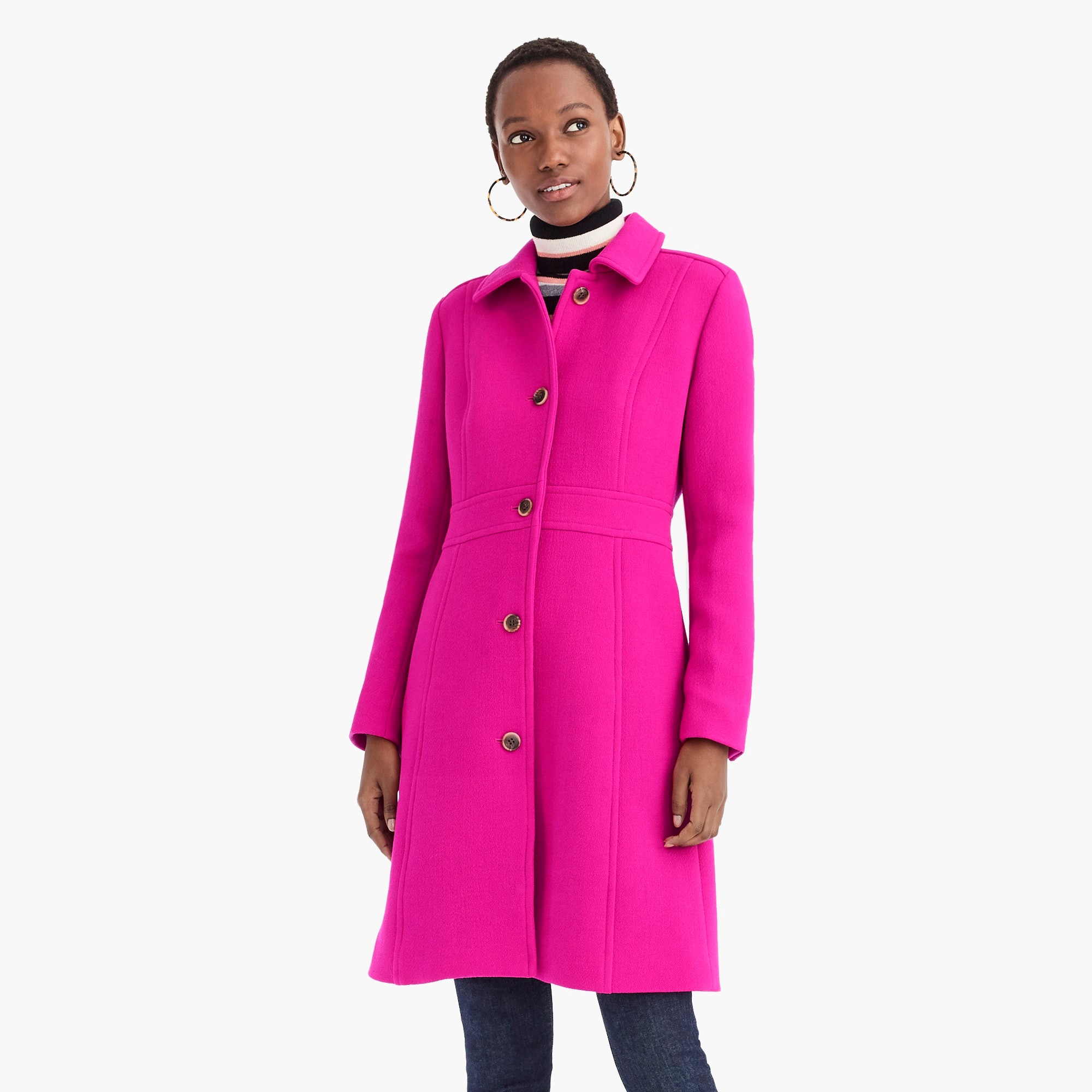 Image 4 for Tall Italian double-cloth wool lady day coat with Thinsulate®