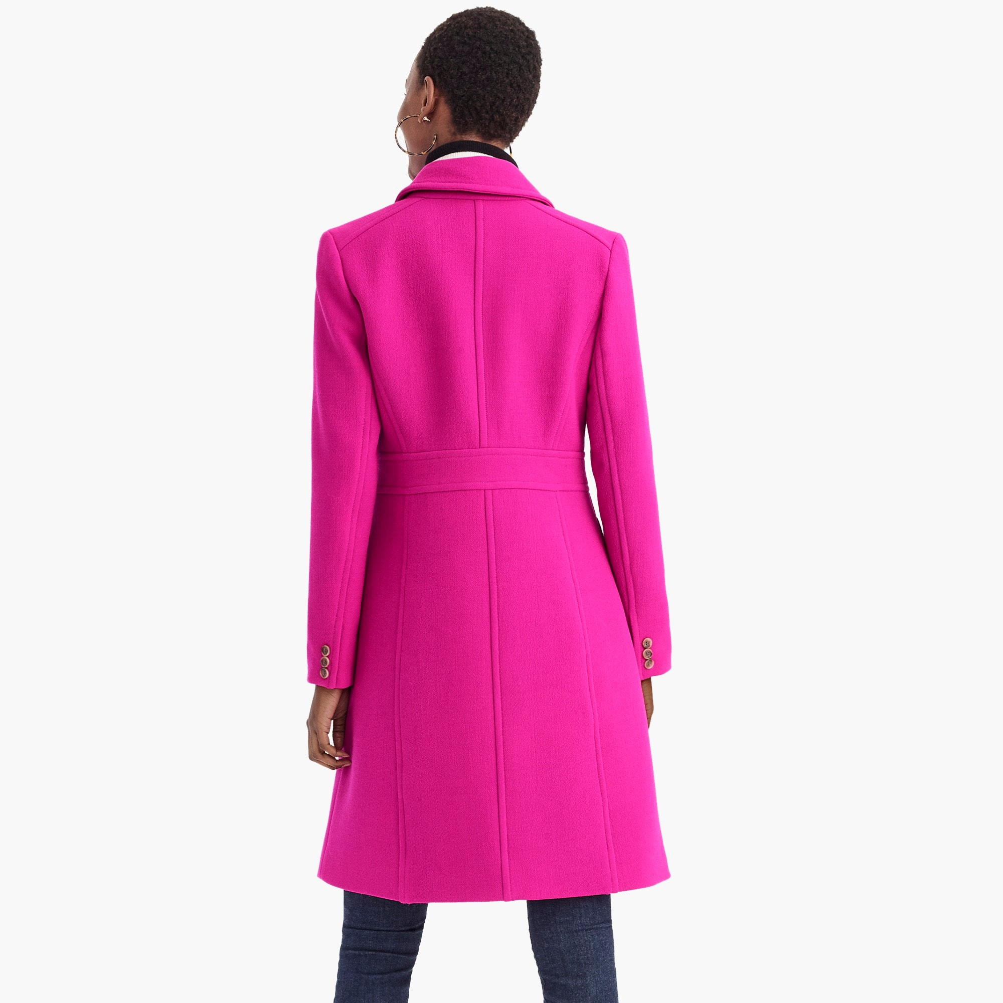Image 6 for Tall Italian double-cloth wool lady day coat with Thinsulate®