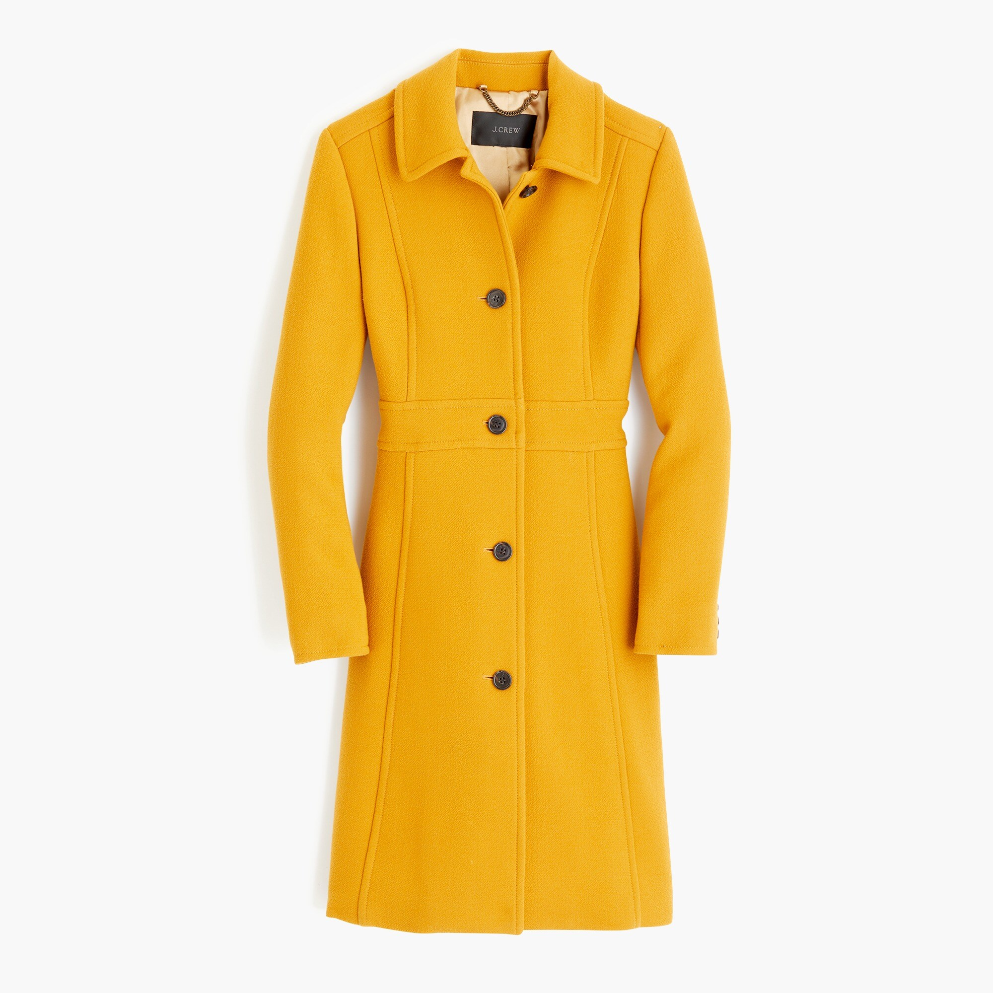 tall italian double-cloth wool lady day coat with thinsulate - women's outerwear