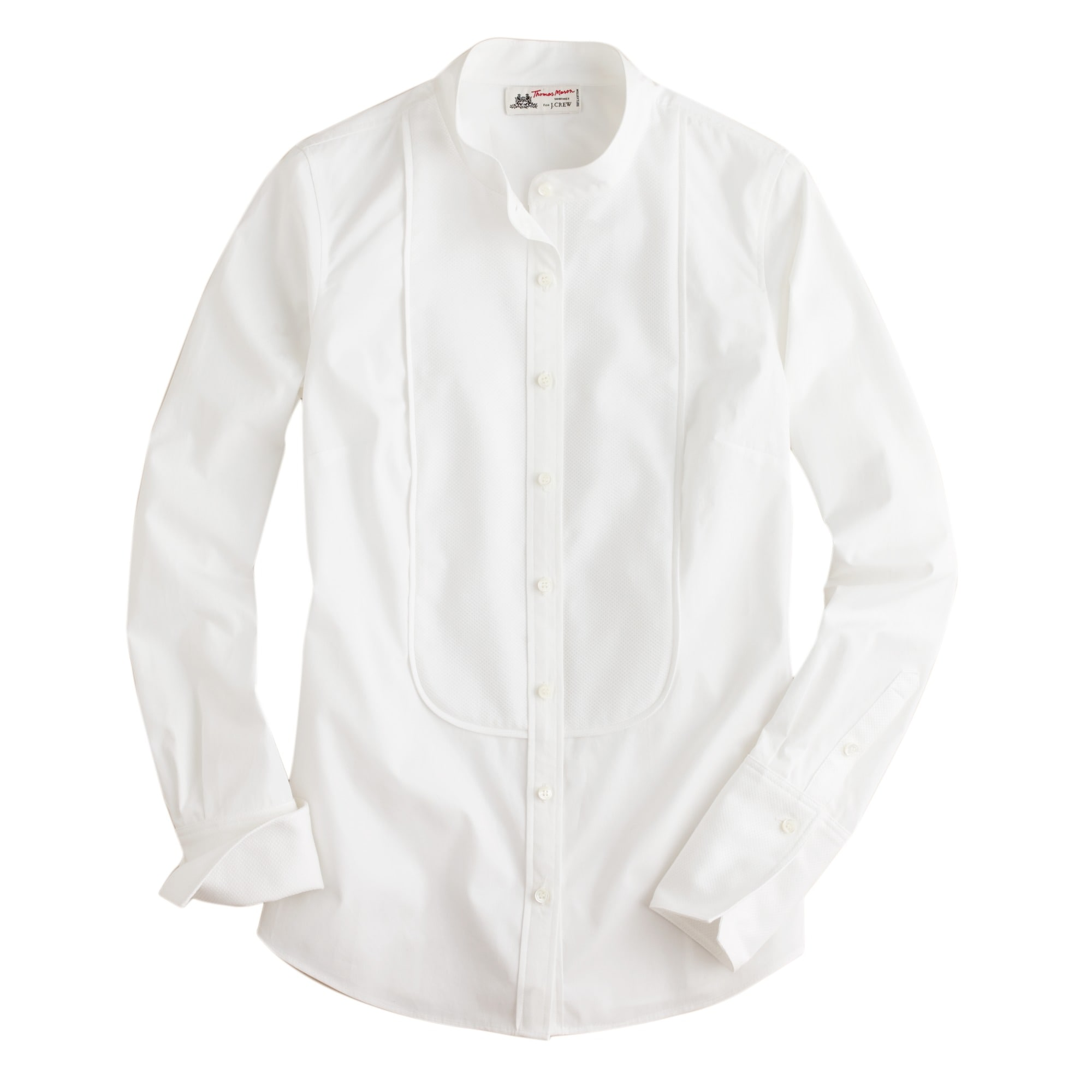 Thomas Mason® for J.Crew mandarin-collar tuxedo shirt