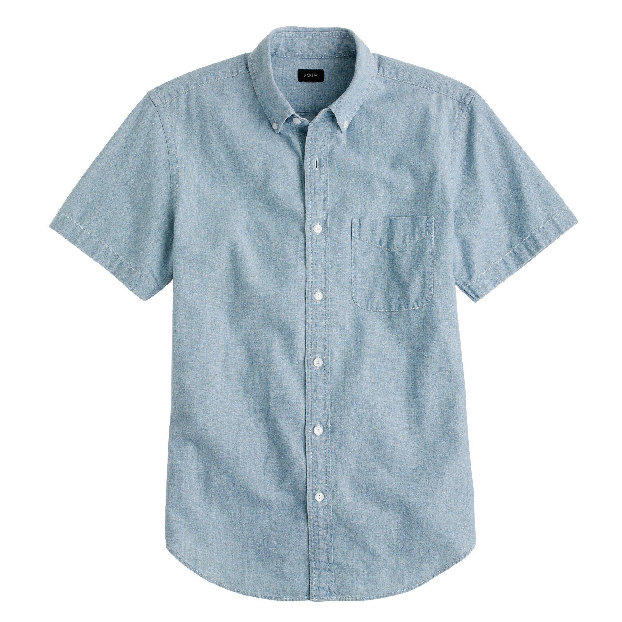 Image 2 for Short-sleeve shirt in Japanese indigo chambray