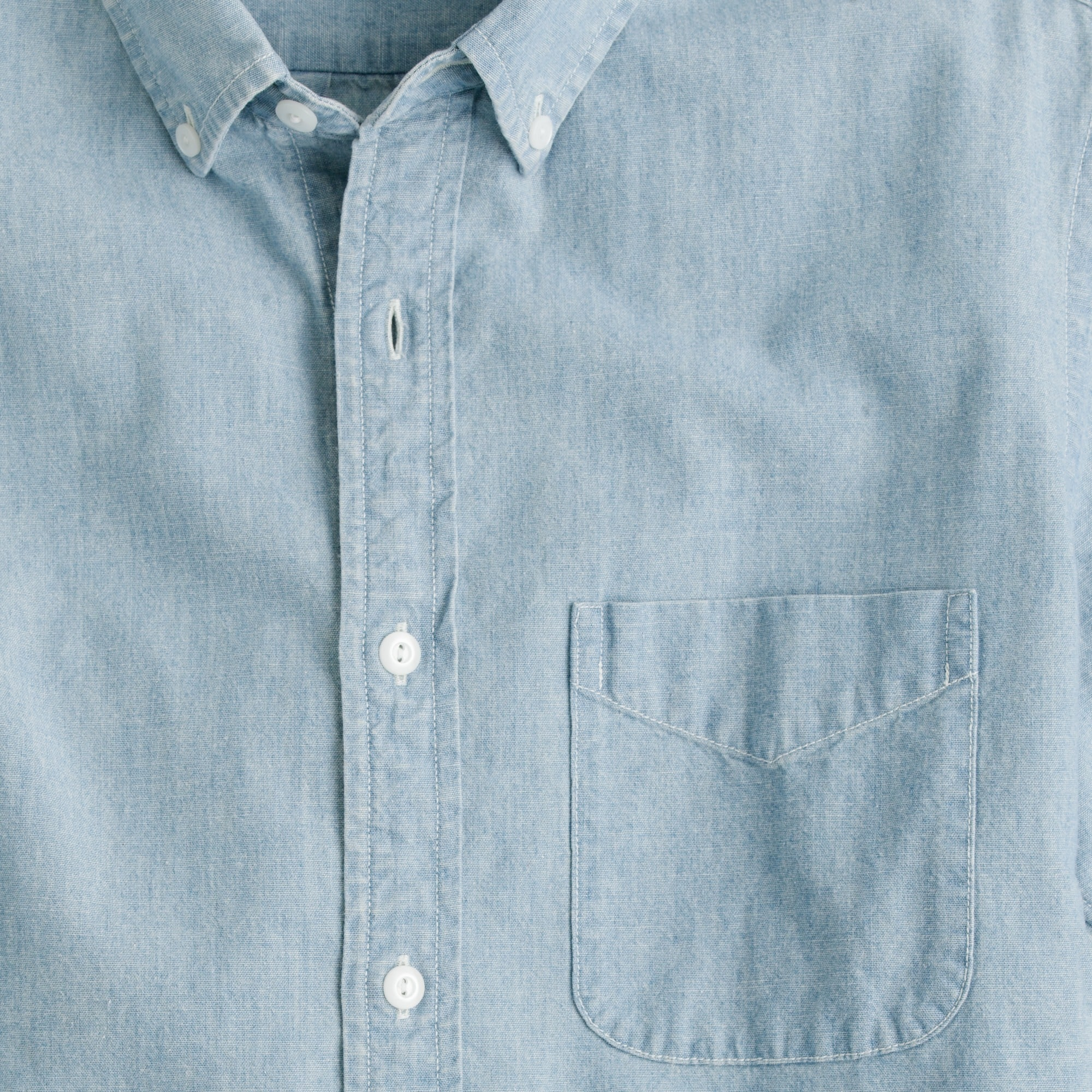 Image 3 for Short-sleeve shirt in Japanese indigo chambray