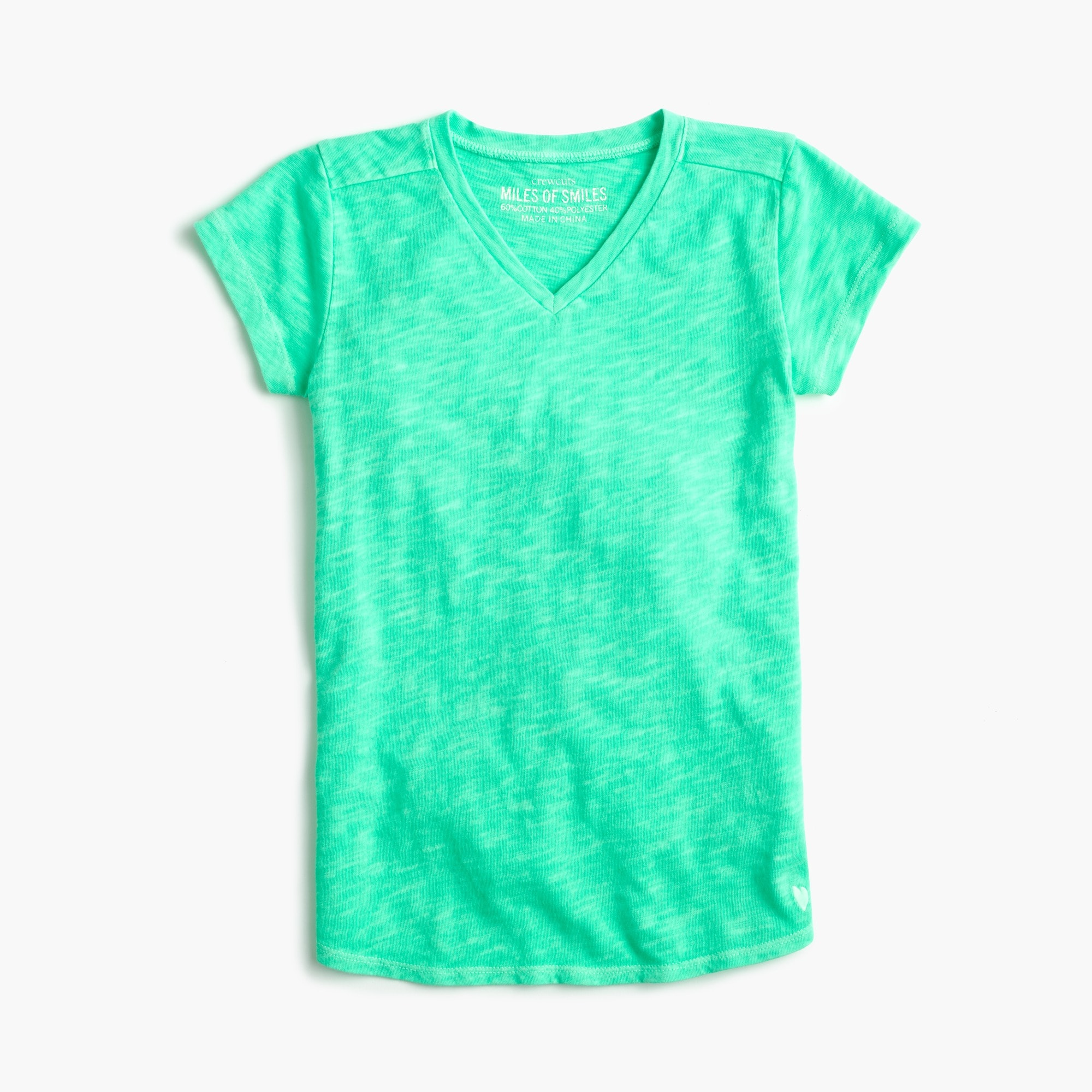 girls' supersoft v-neck t-shirt - girls' tops