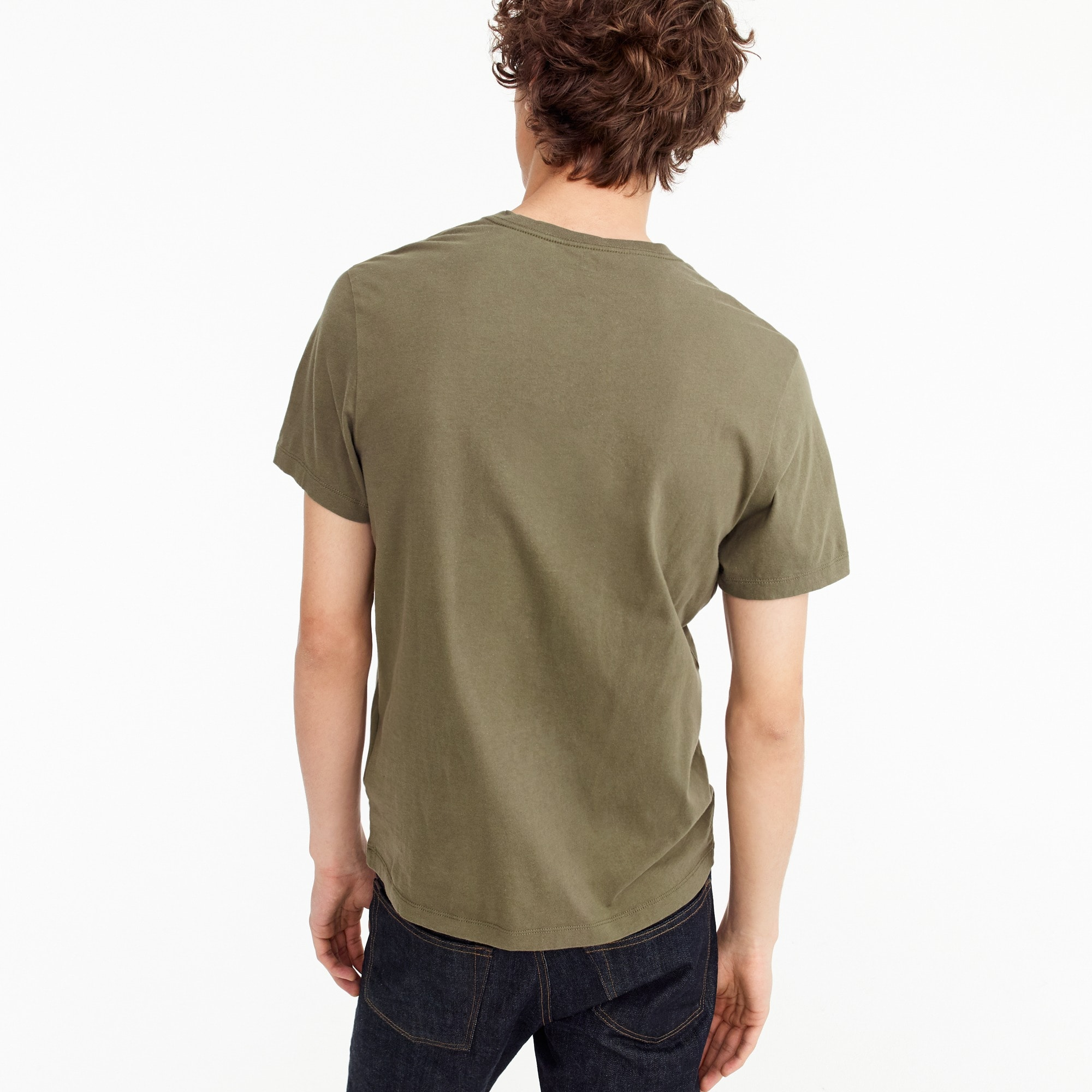 Tall broken-in V-neck T-shirt