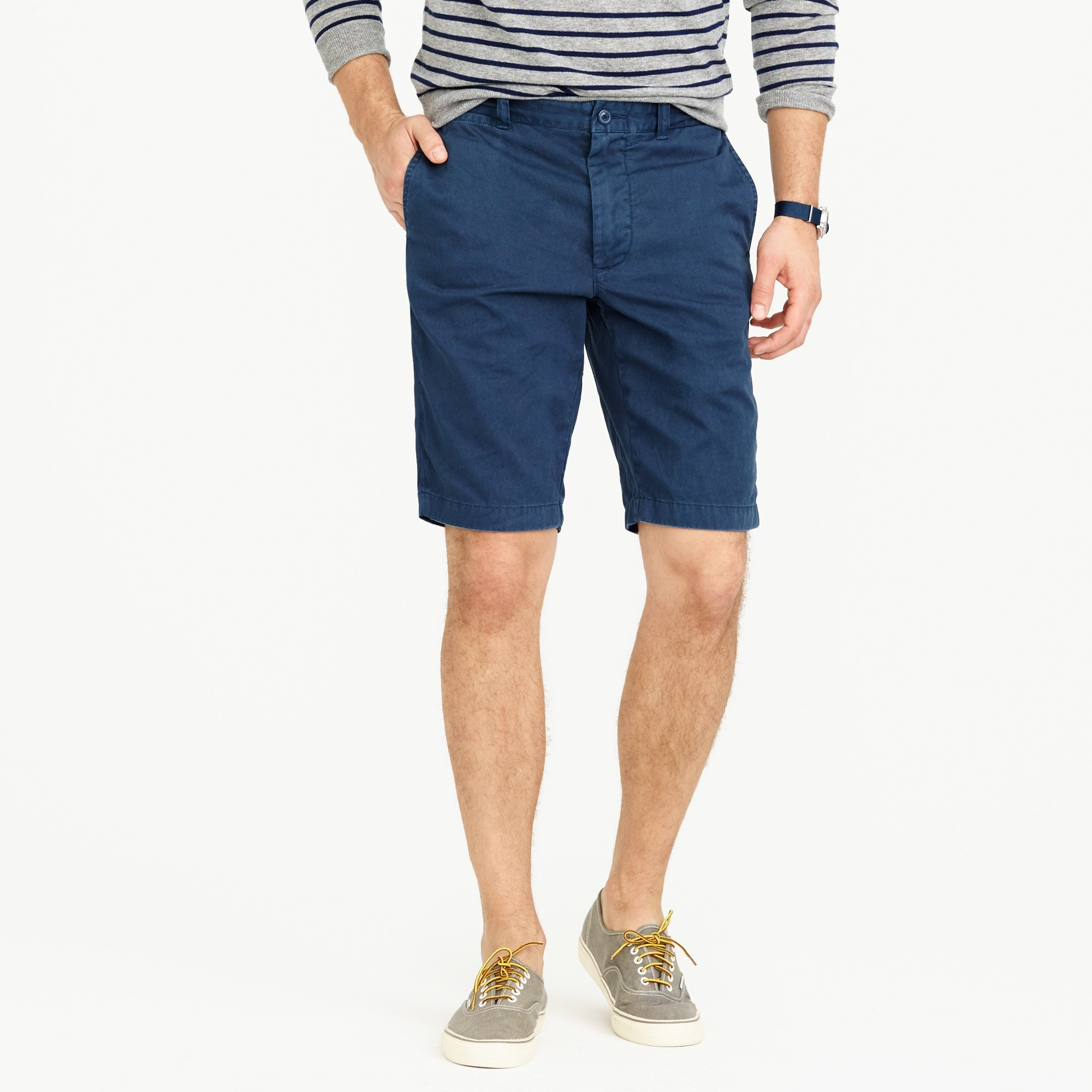 "men's 10.5 short in garment-dyed cotton"" - men's shorts"