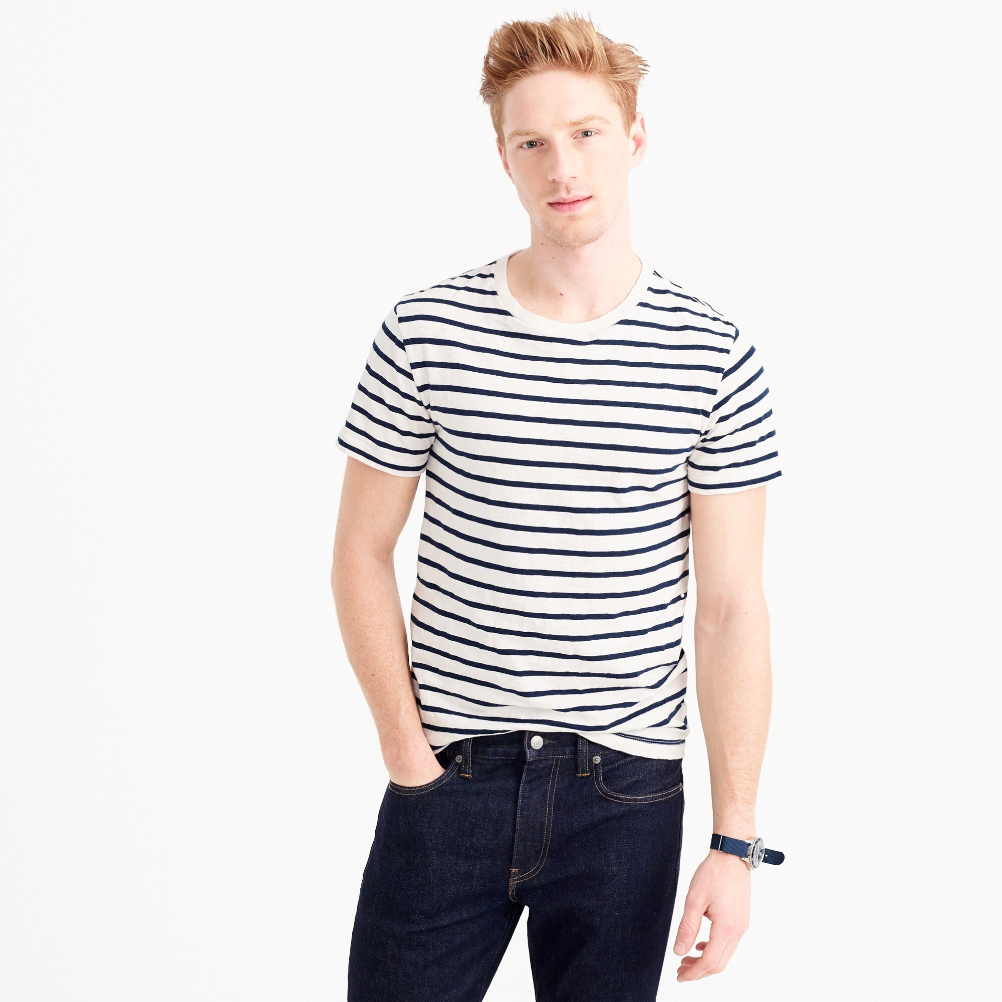 mens Tall deck-stripe T-shirt