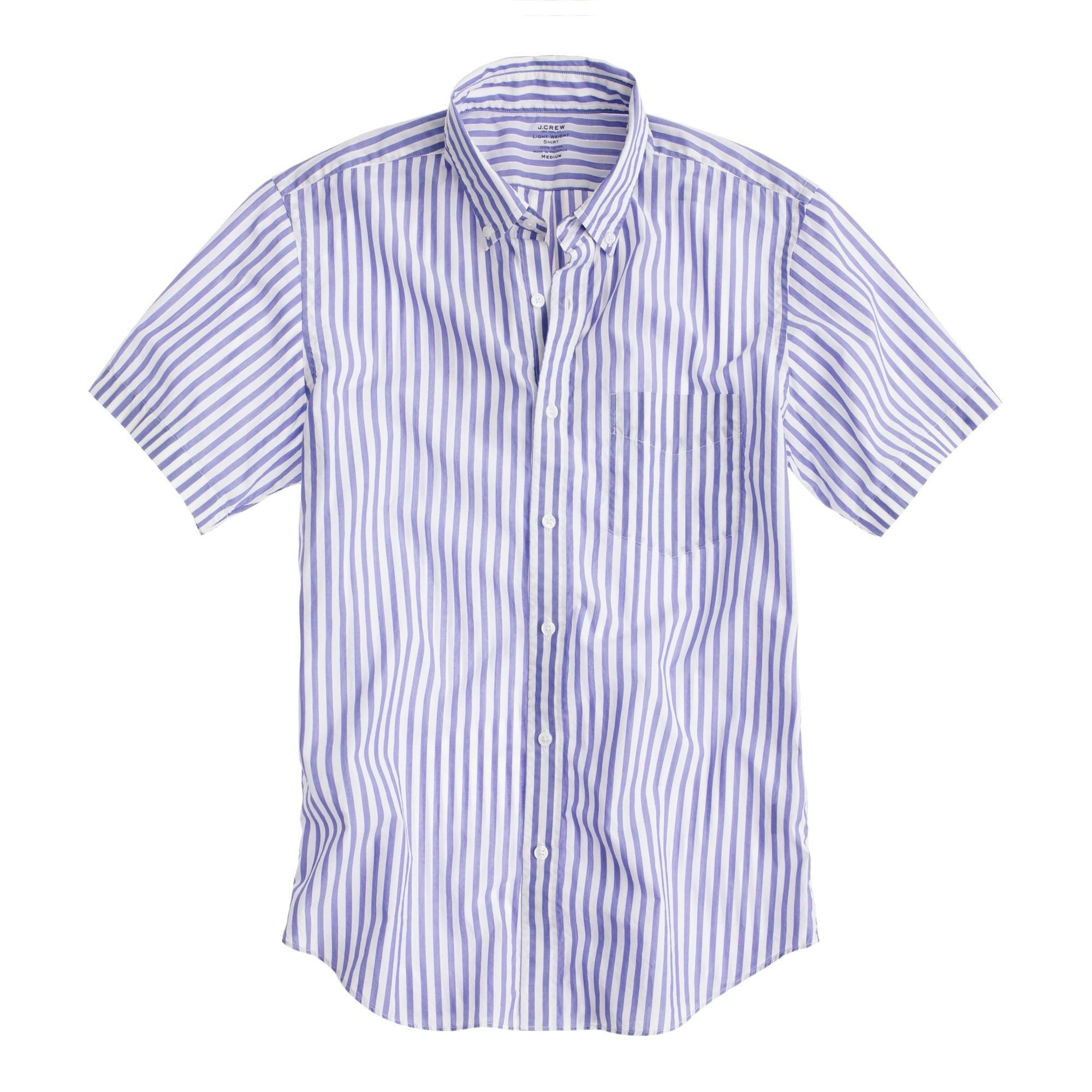 Secret Wash lightweight short-sleeve shirt in sea stripe