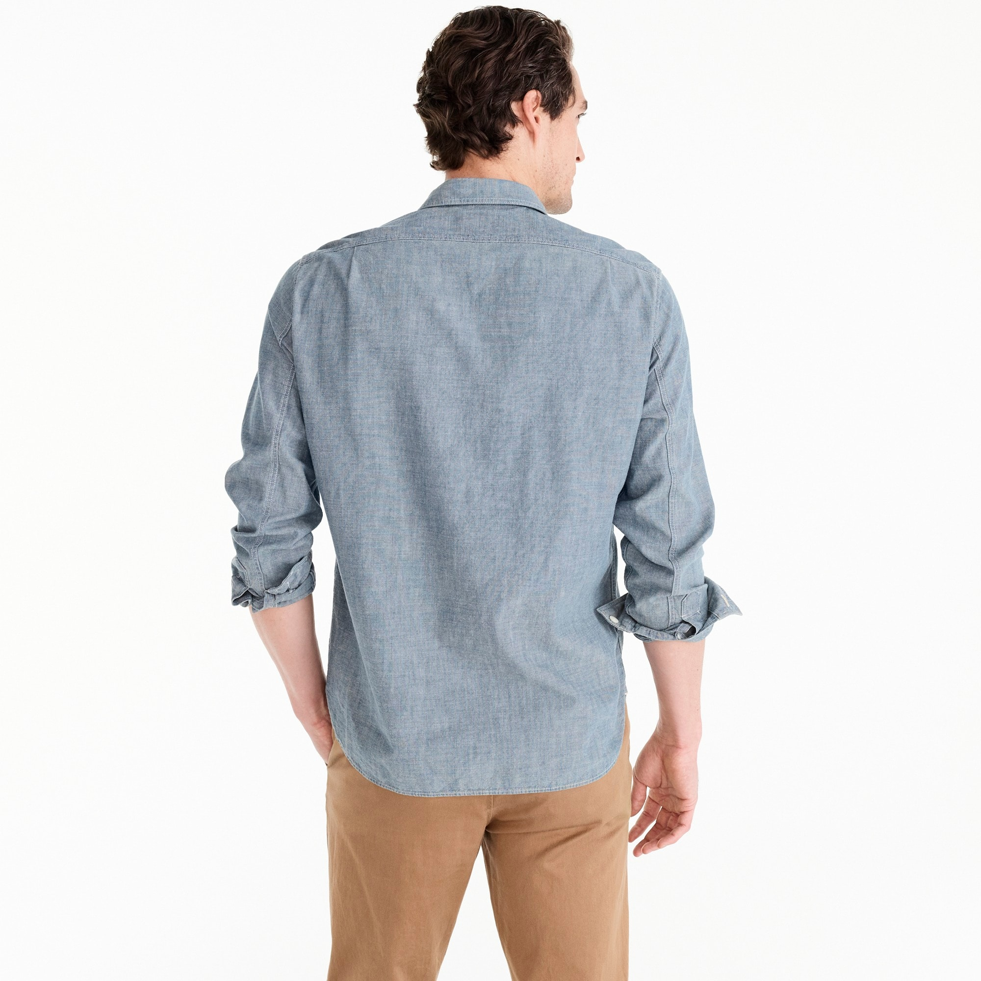 Image 3 for Selvedge Japanese chambray utility shirt