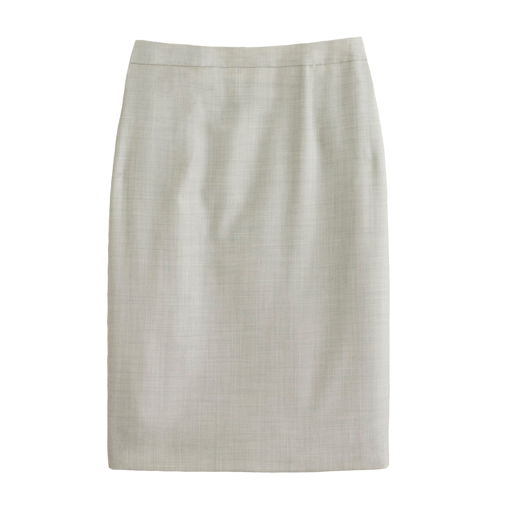 Petite pencil skirt in Super 120s wool