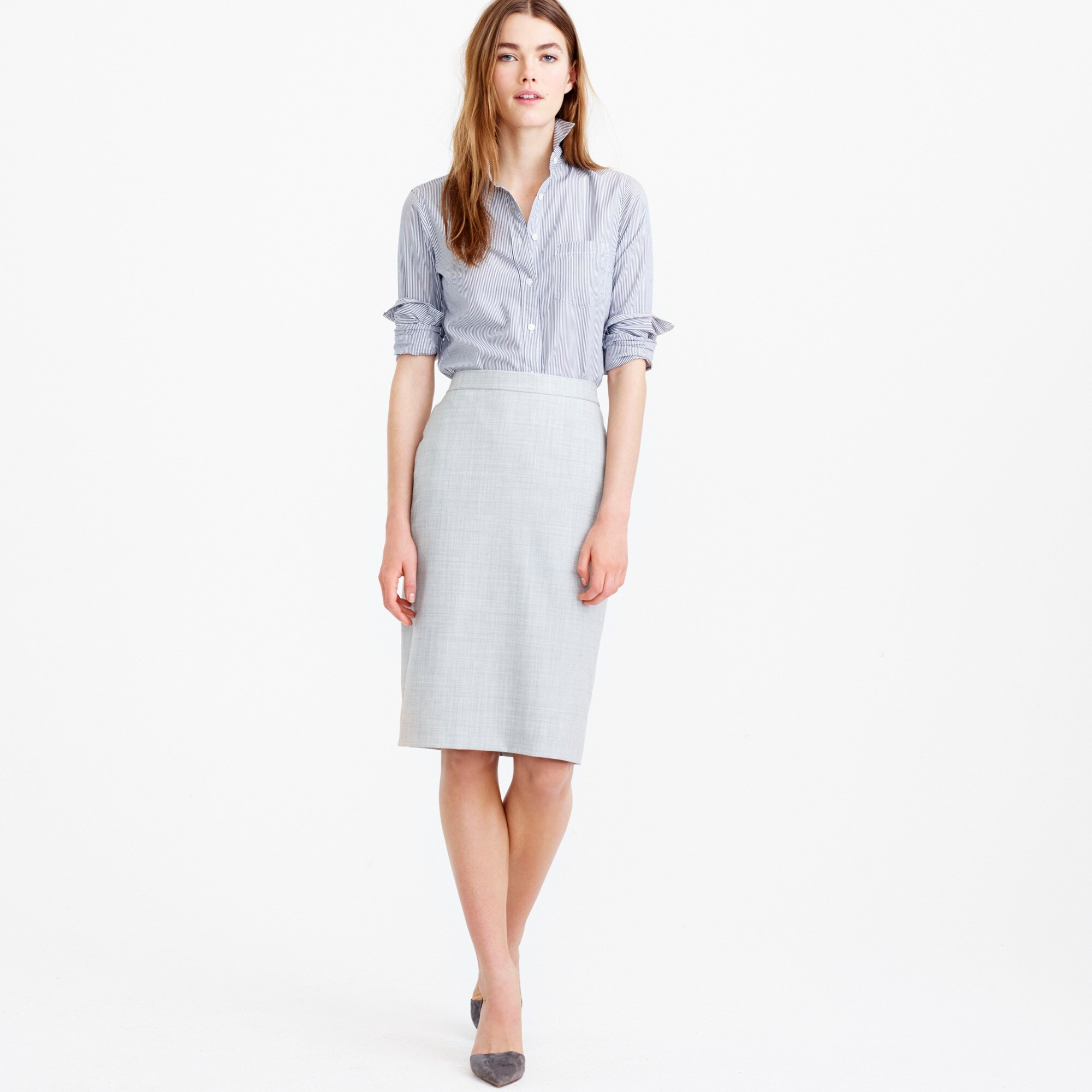 petite pencil skirt in super 120s wool : women's suit skirts