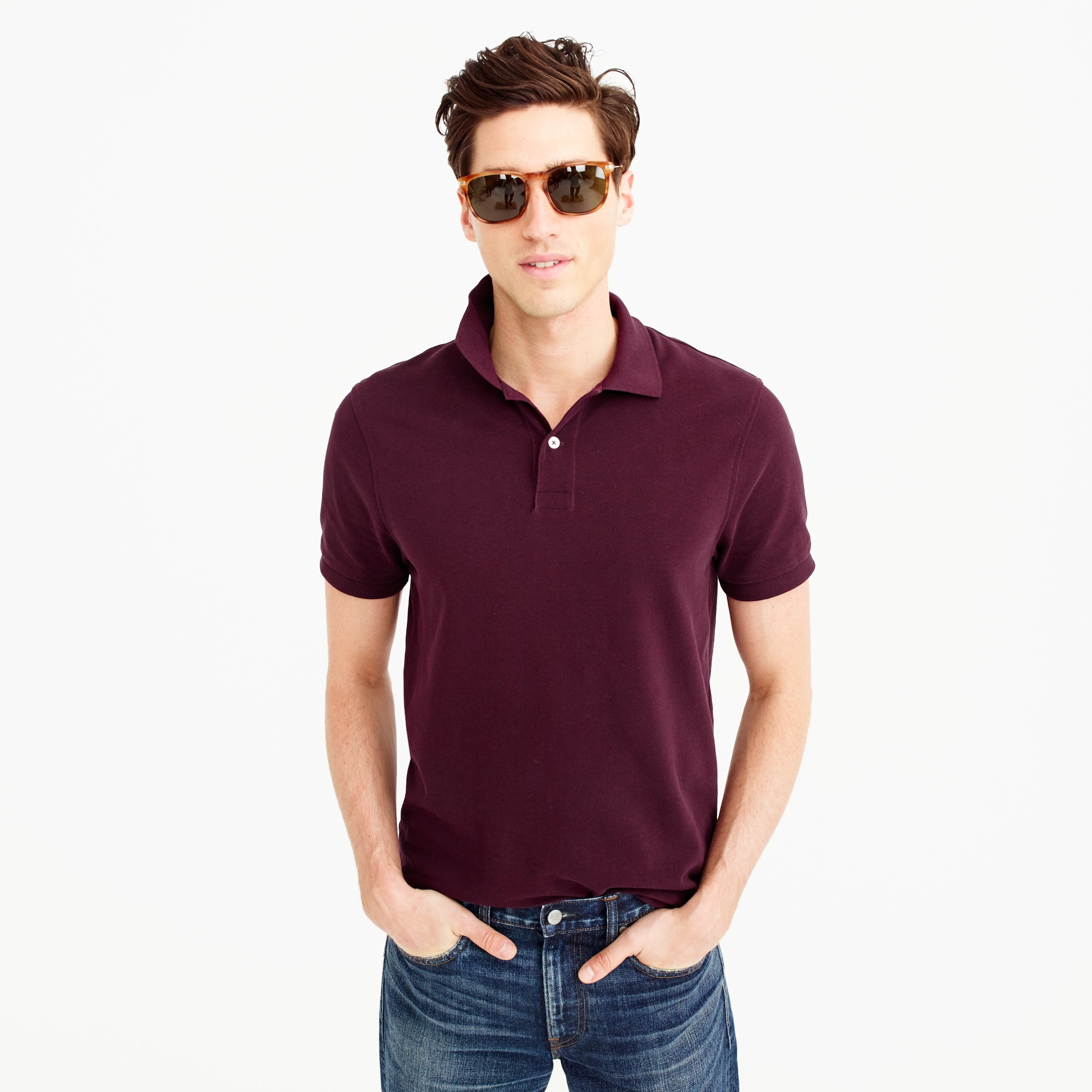 Classic piqué polo shirt men stock-up shop c