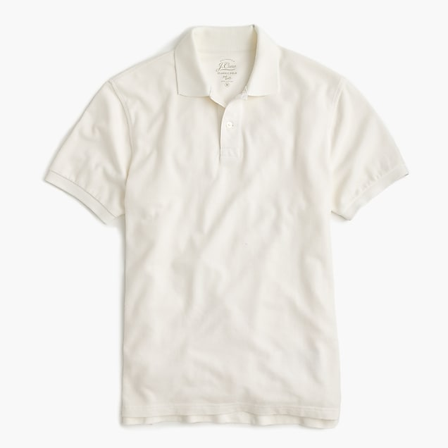 116e9e2ca j.crew: classic piqué polo shirt, right side, view zoomed