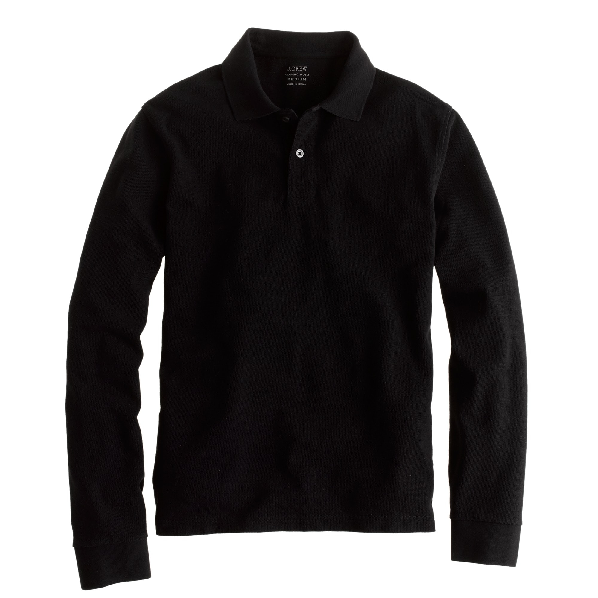 Image 2 for Slim long-sleeve classic piqué polo shirt