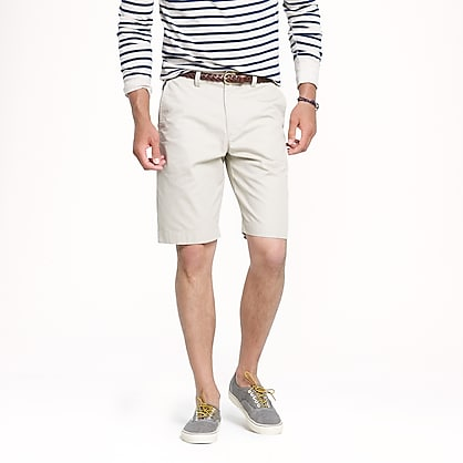"11"" club short in lightweight chino"