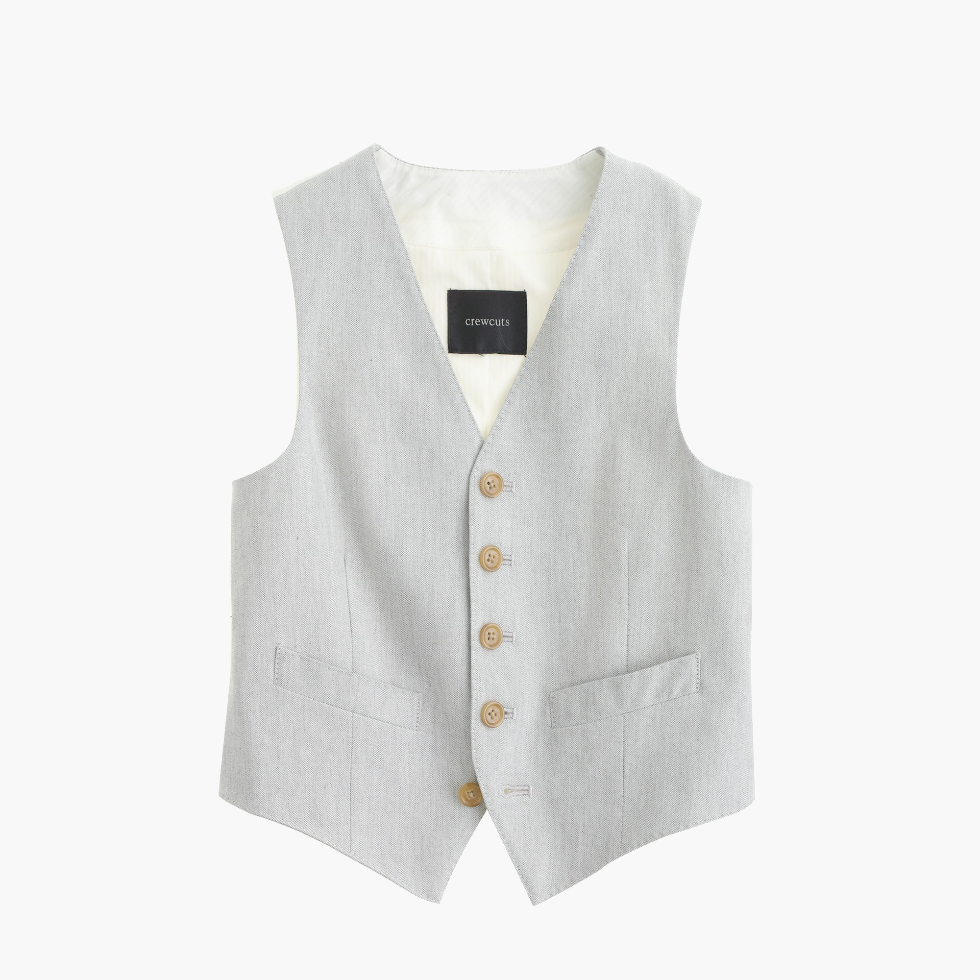 Boys' Ludlow suit vest in oxford cloth