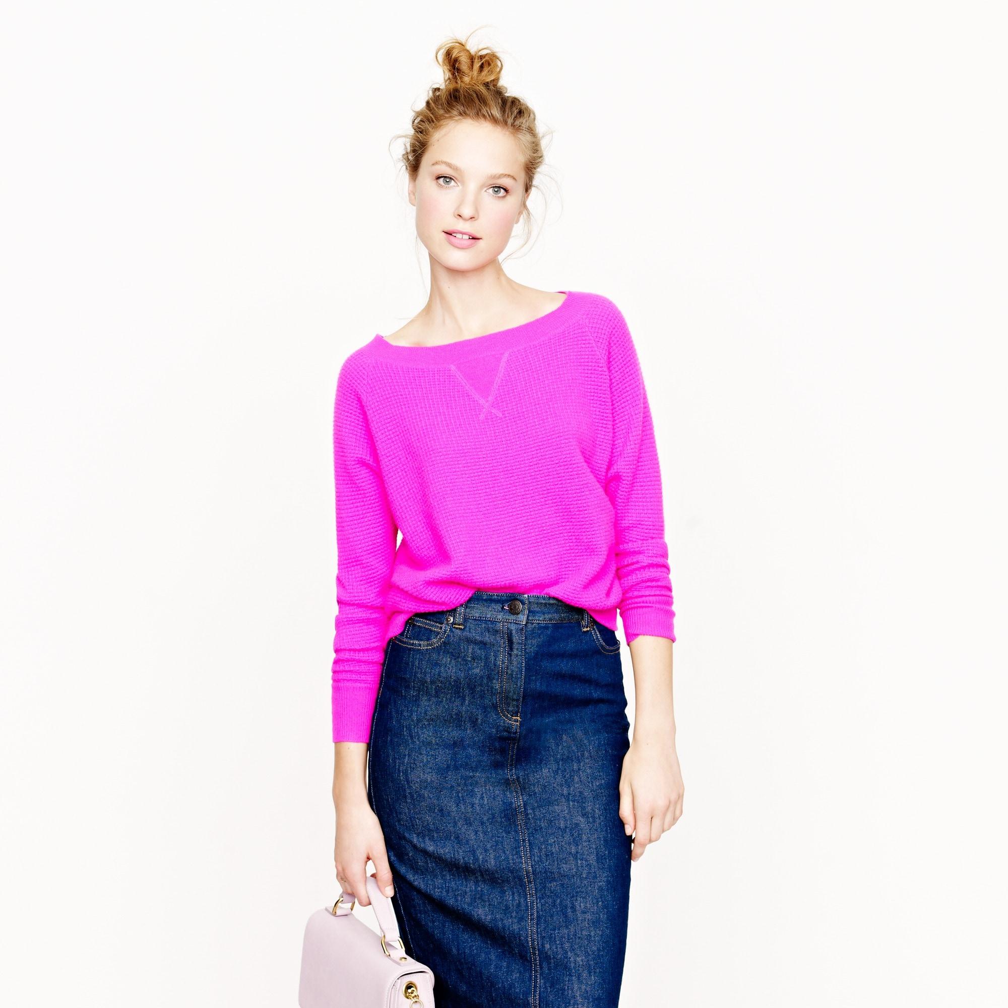 collection cashmere isabel waffle sweatshirt :