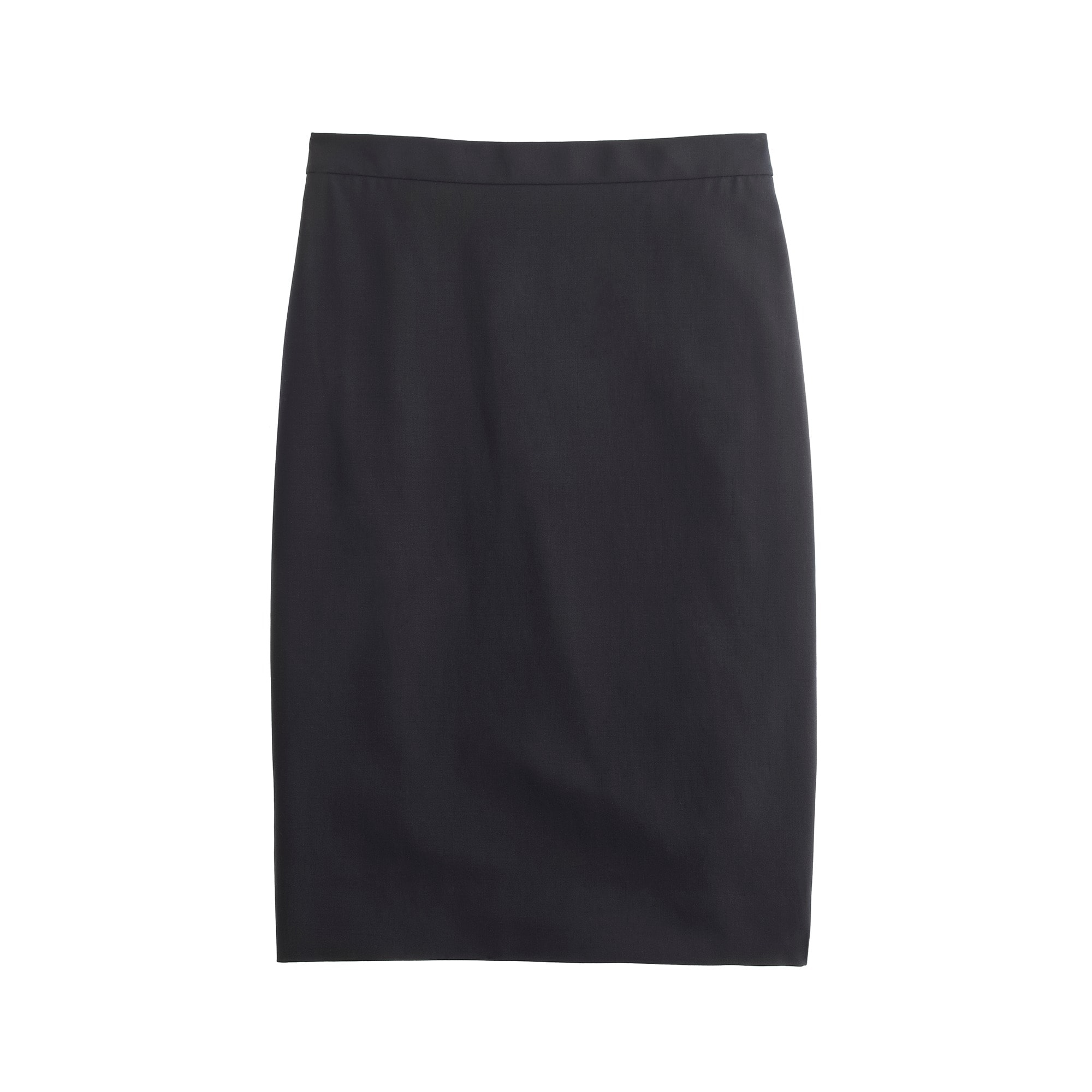 Pencil skirt in Italian two-way stretch wool