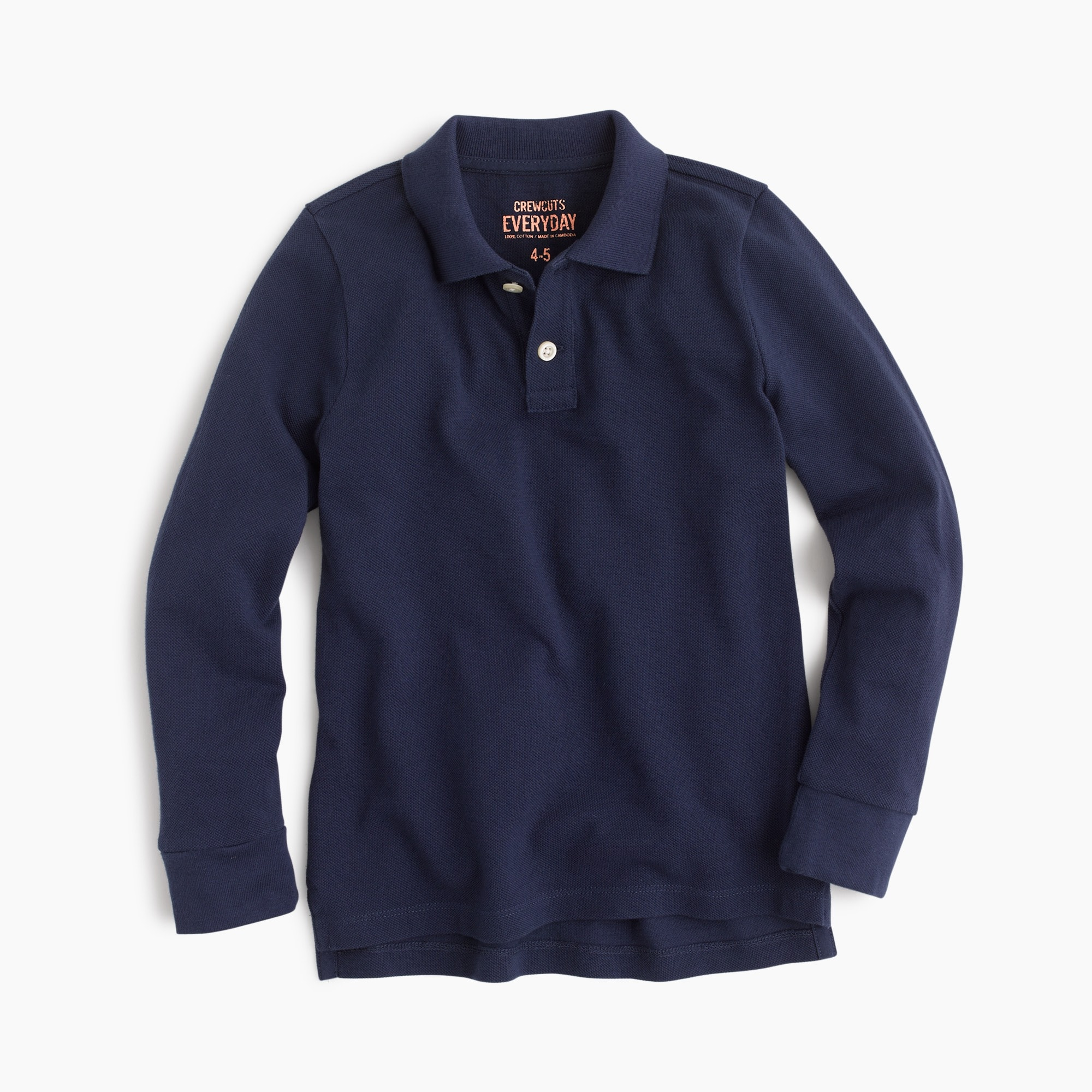 boys Boys' long-sleeve piqué polo shirt