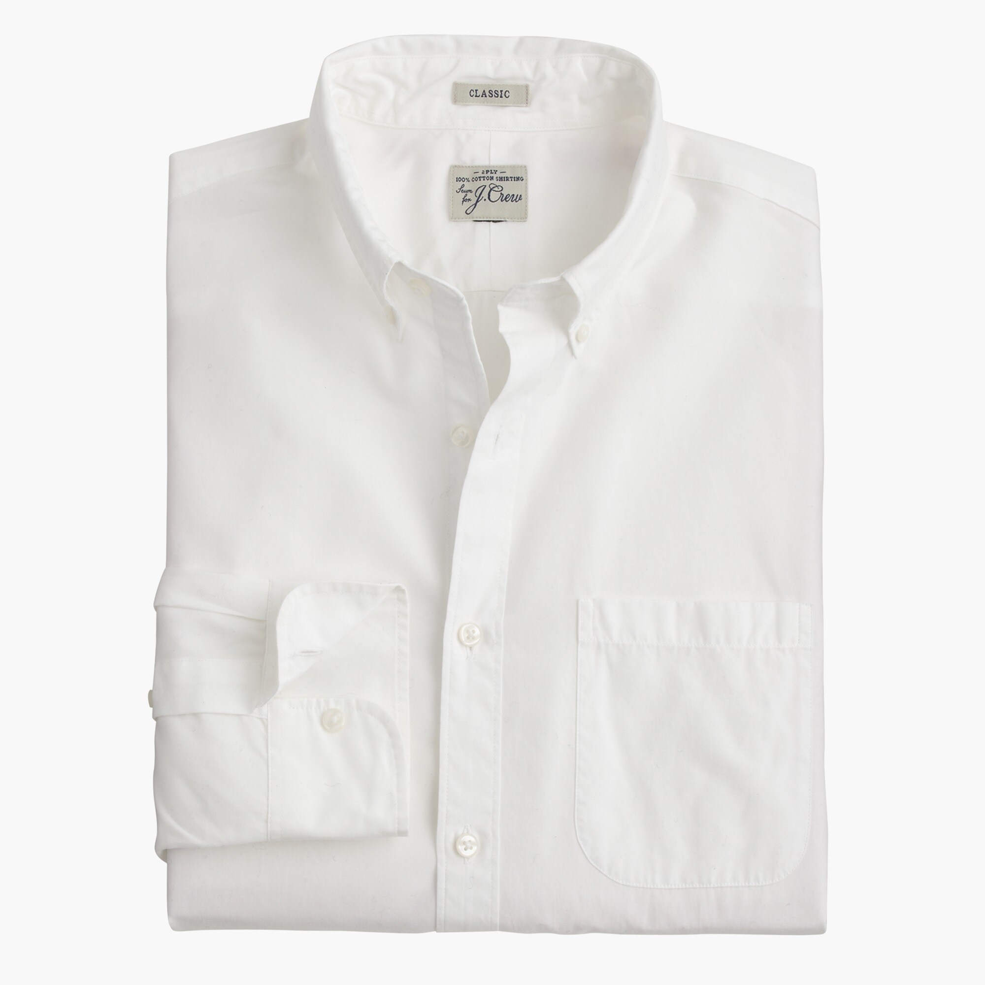men's slim secret wash shirt in white - men's shirts