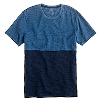 Colorblock indigo T-shirt