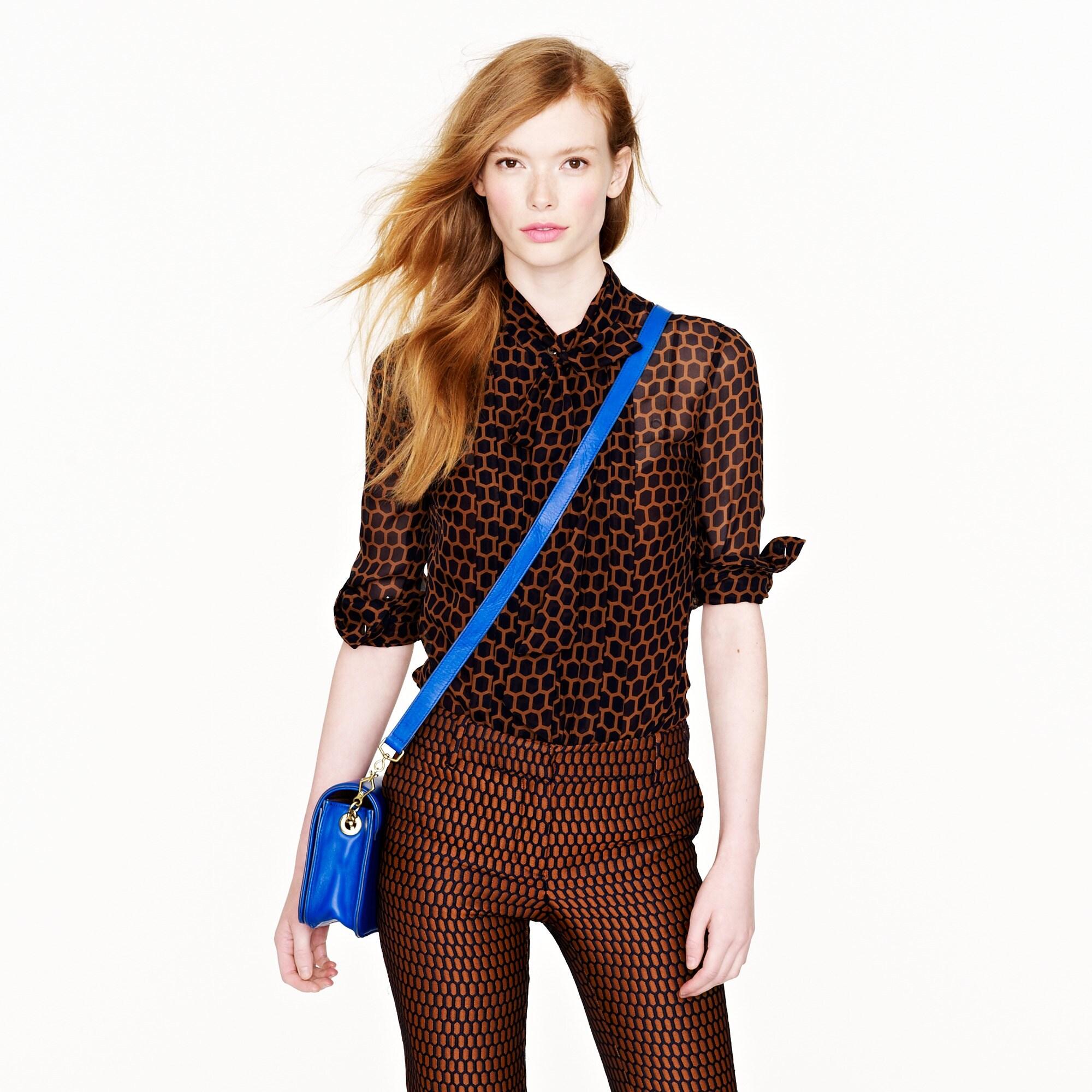 collection honeycomb chiffon blouse :