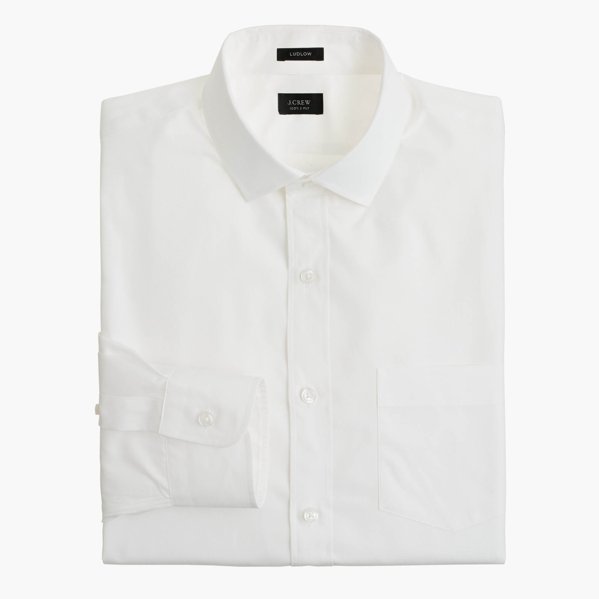 Tall Ludlow spread-collar shirt