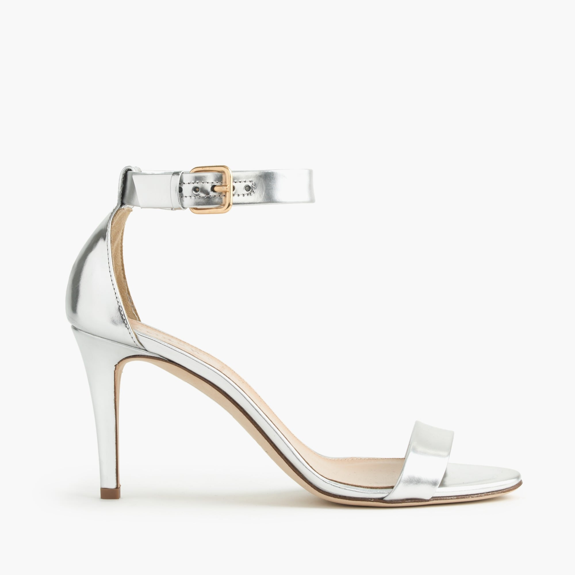 mirror metallic high-heel sandals : women's sandals