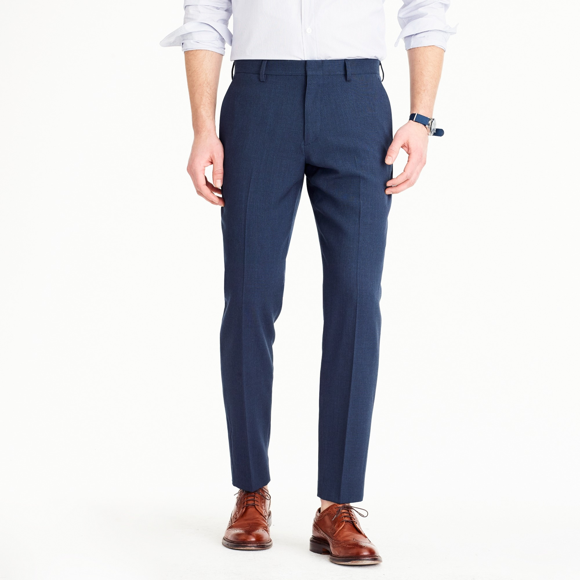 Ludlow Traveler suit pant in Italian wool men pants c