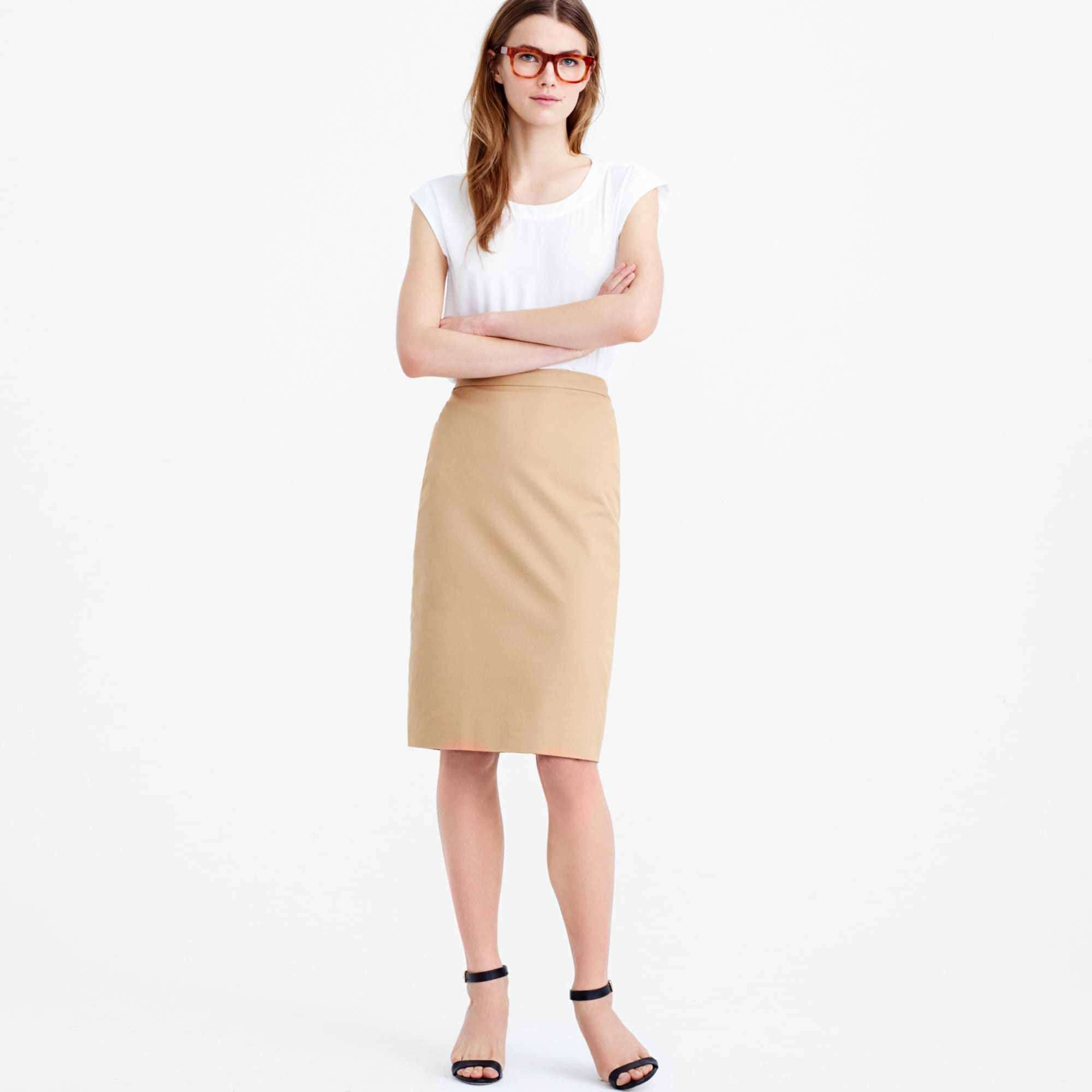 Image 2 for Petite pencil skirt in stretch cotton