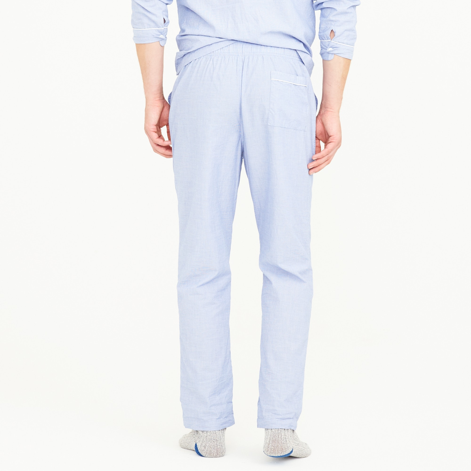 End-on-end cotton pajama pant