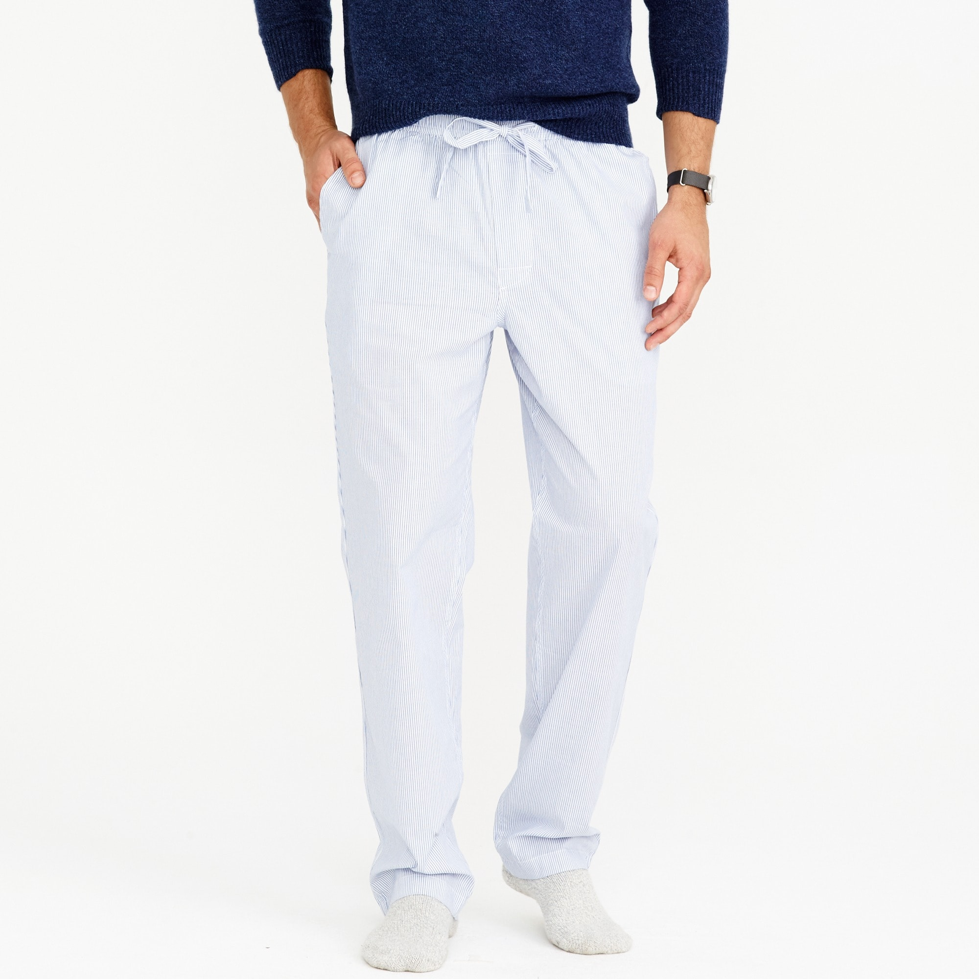 Cotton pajama pant in stripe