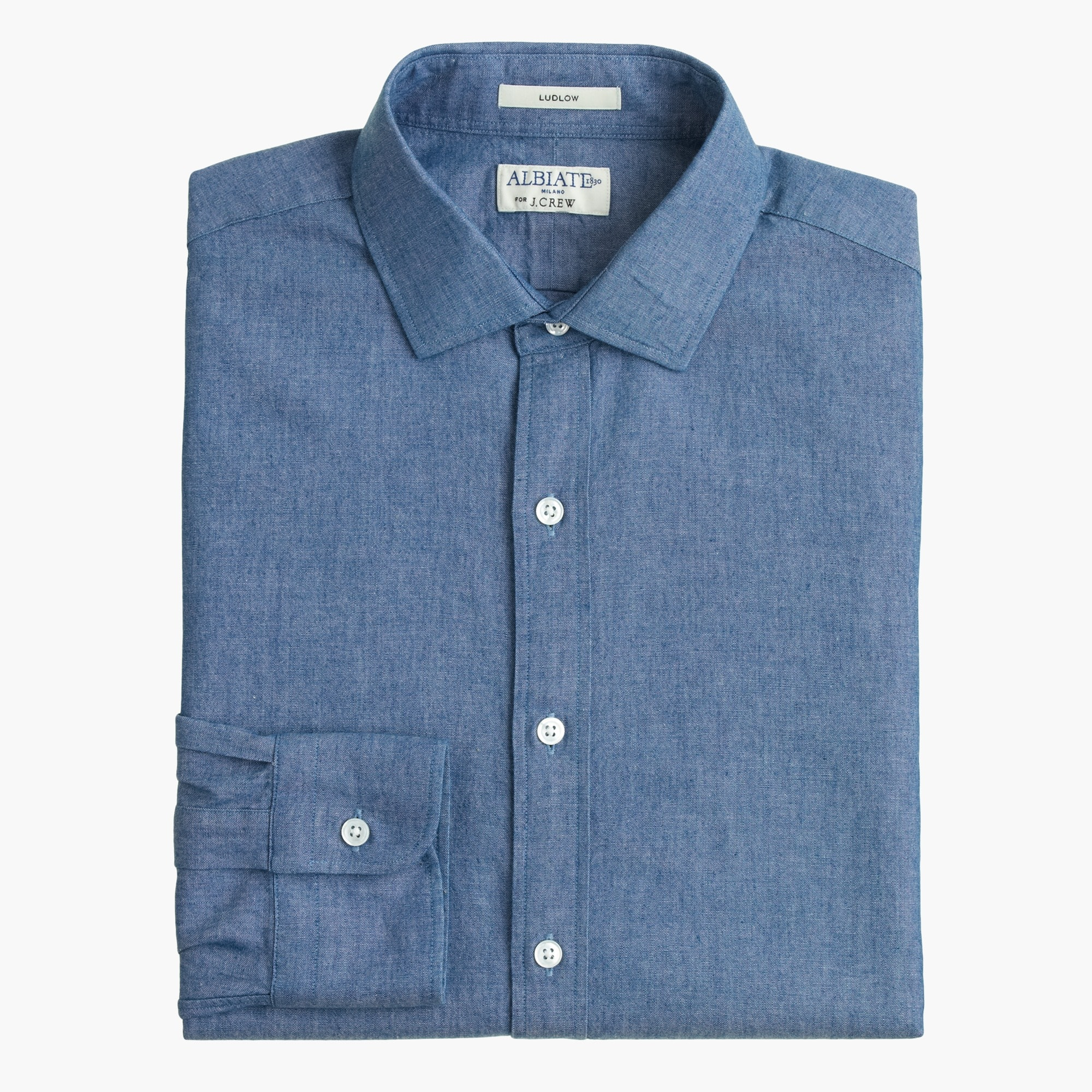 Albiate 1830 for J.Crew Ludlow Slim-fit spread-collar shirt in Italian chambray